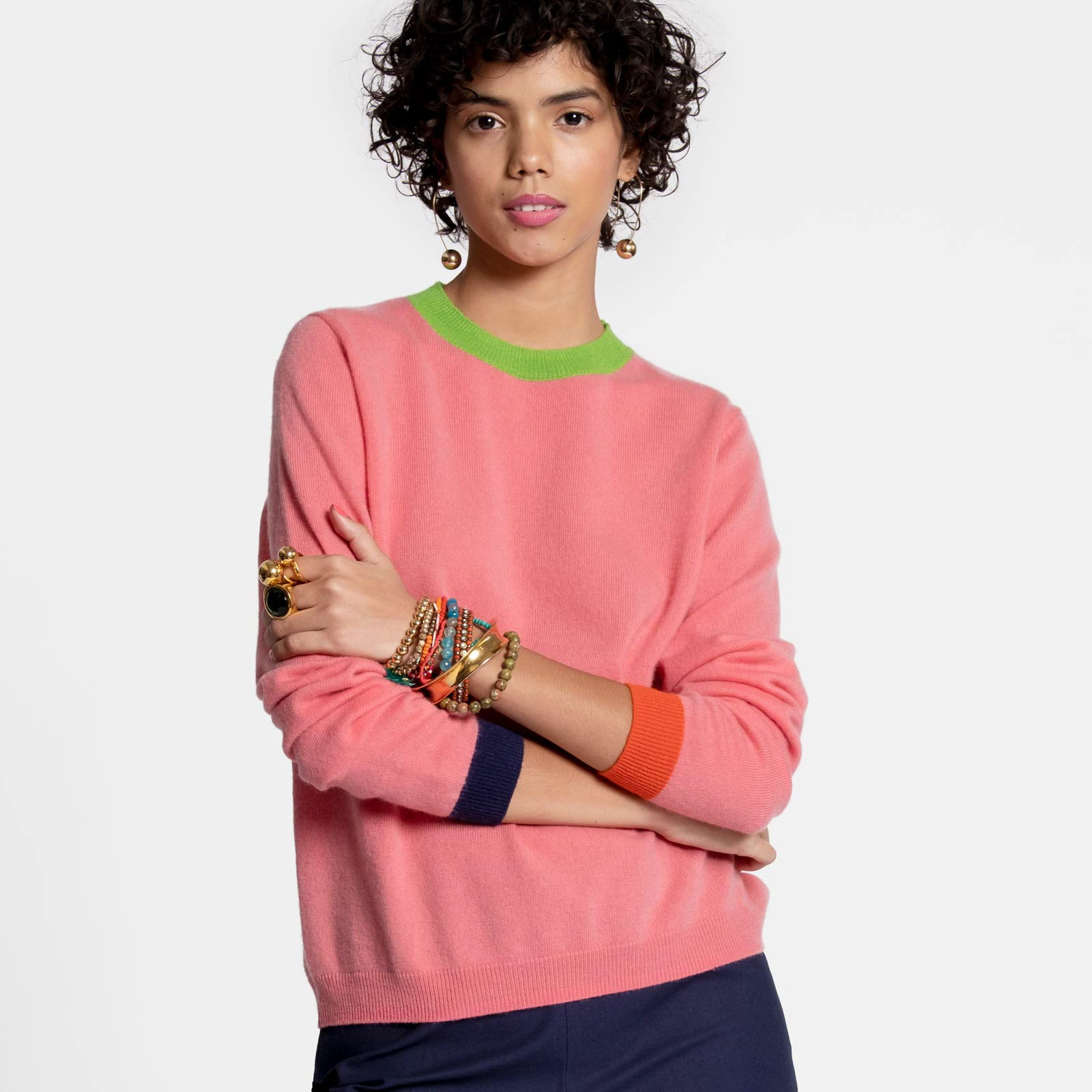 Betts Cashmere Sweater Pink - Frances Valentine