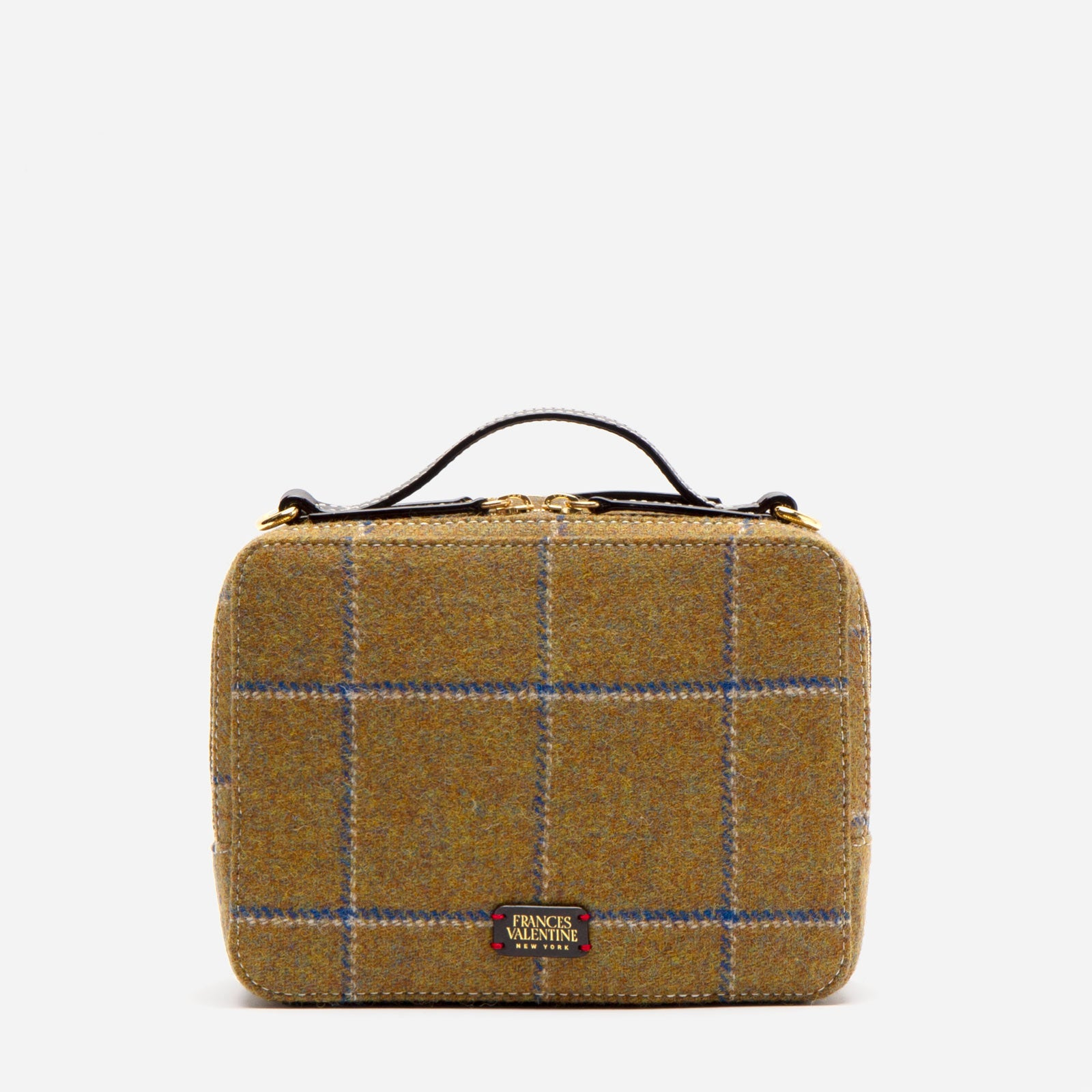 Birdie Wool Plaid Olive Navy - Frances Valentine