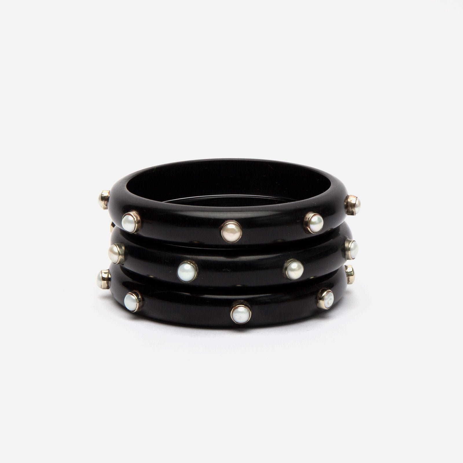 Kerala Bangle Set Black