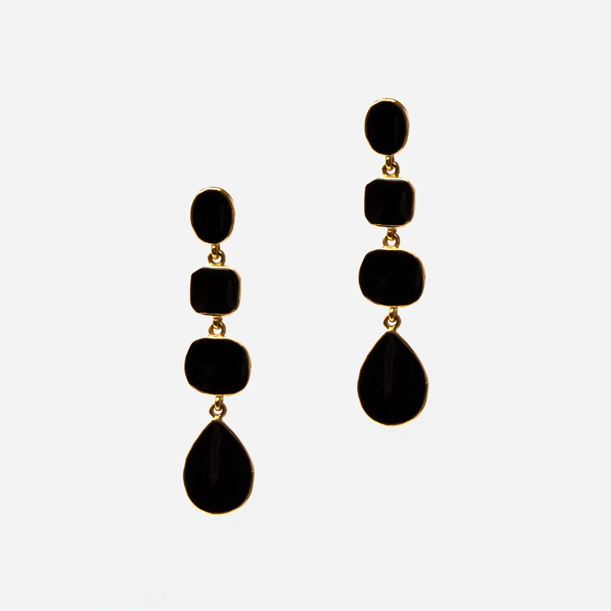 Onyx Drop Earrings - Frances Valentine