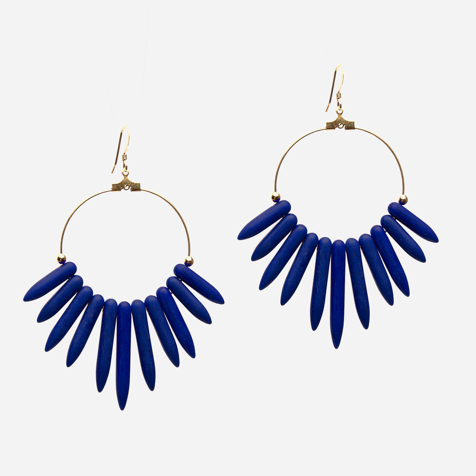 Chile Hoop Earrings Lapis - Frances Valentine