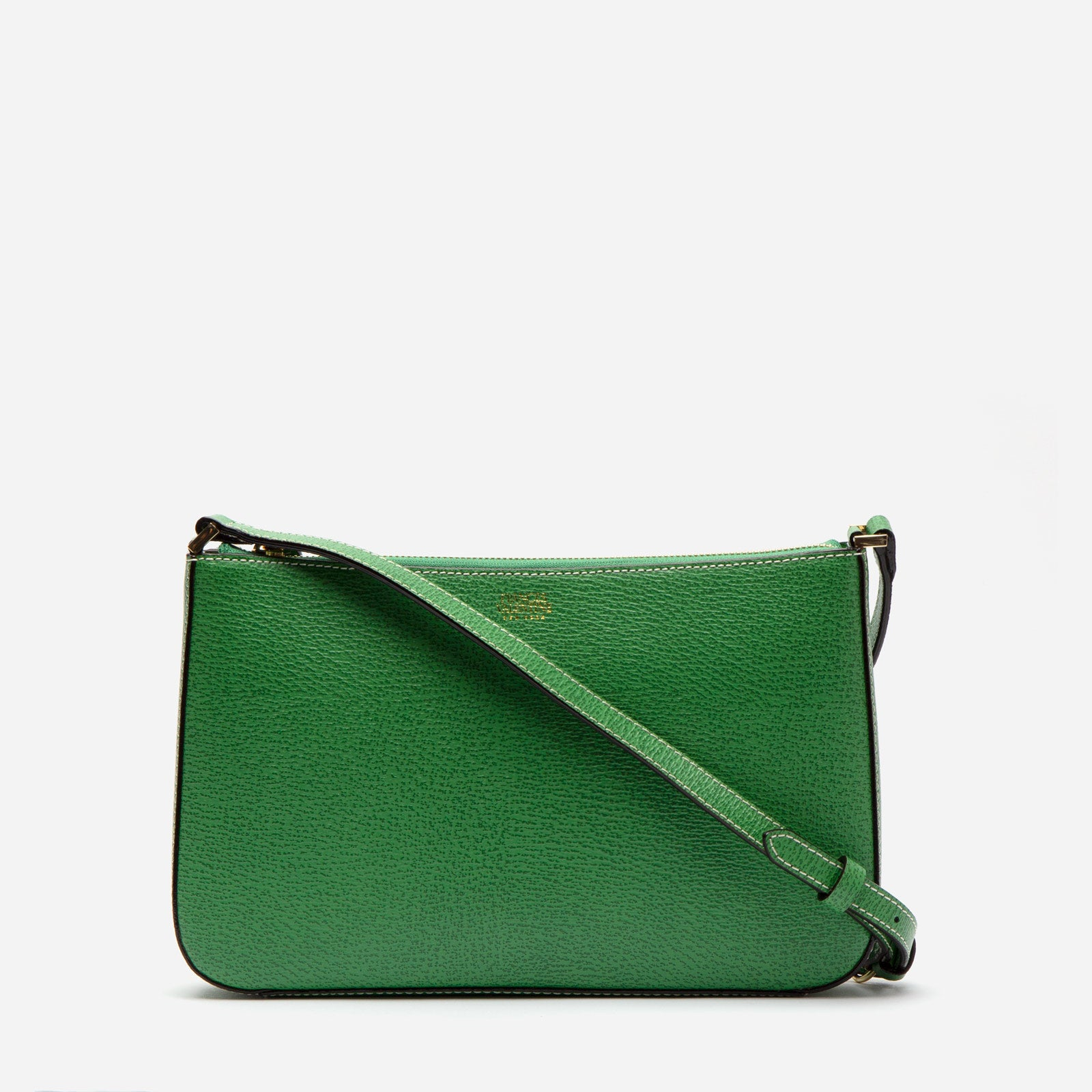 Poppy Crossbody Boarskin Leather Green