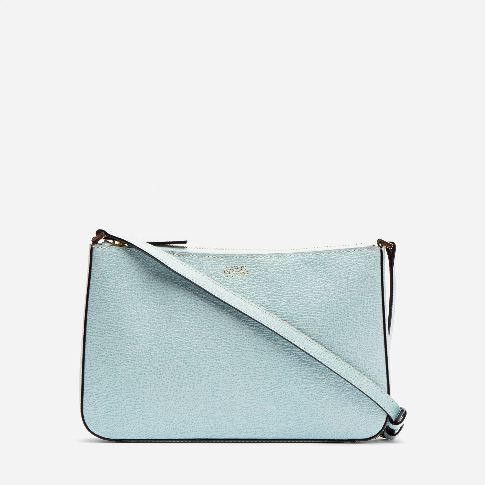 Poppy Crossbody Boarskin Leather Light Blue