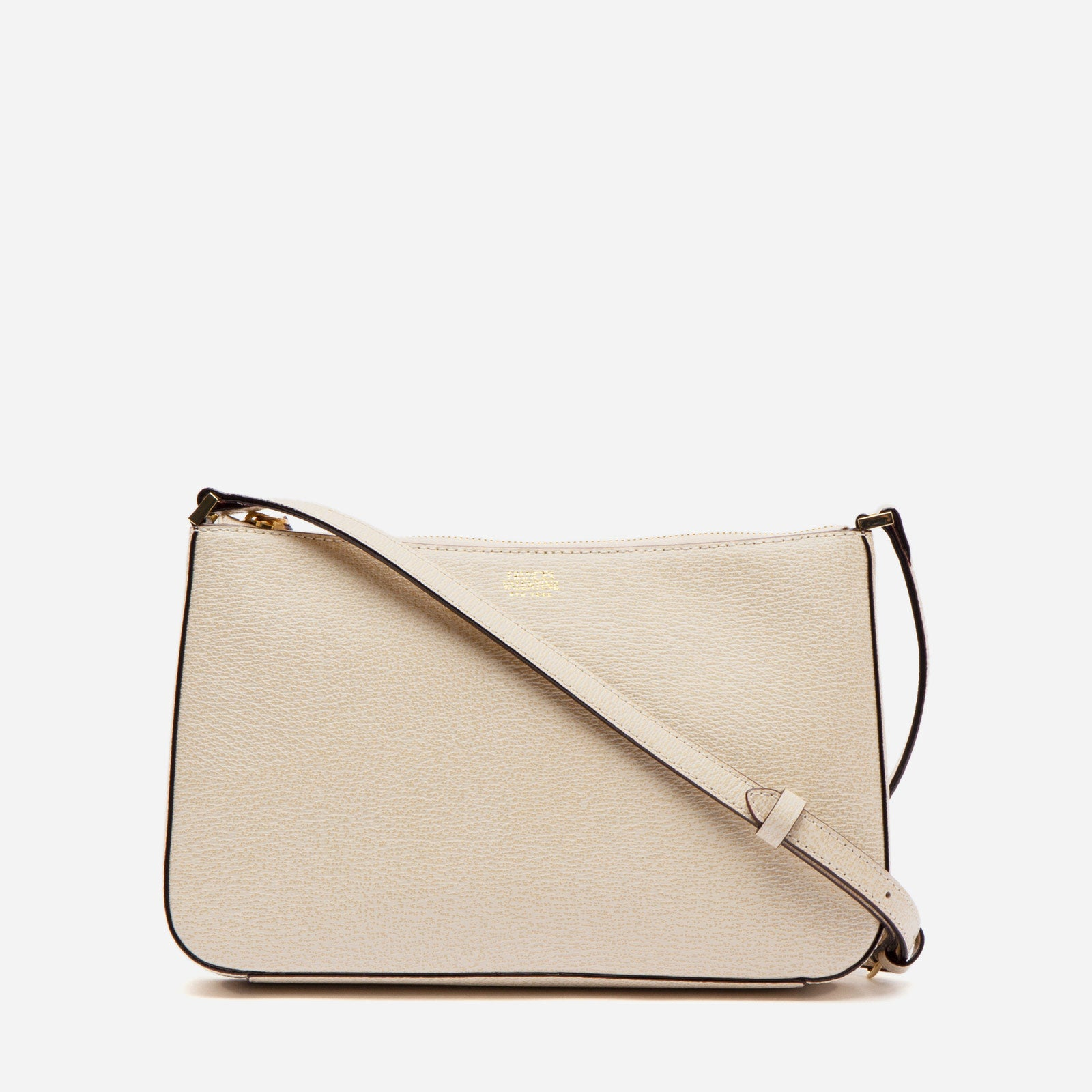Poppy Crossbody Boarskin Leather Oyster