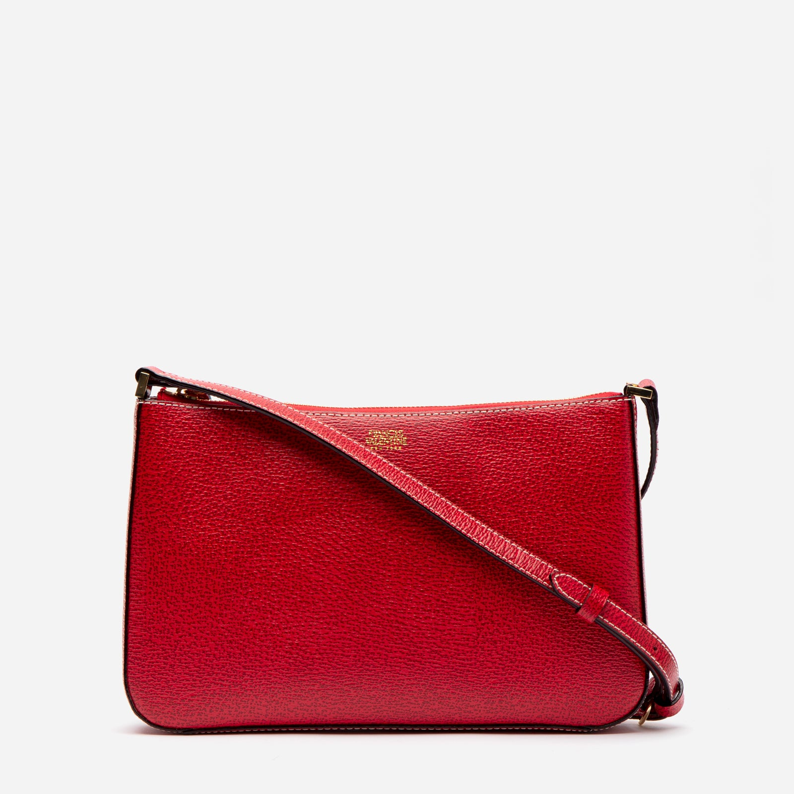 Poppy Crossbody Boarskin Leather Red - Frances Valentine