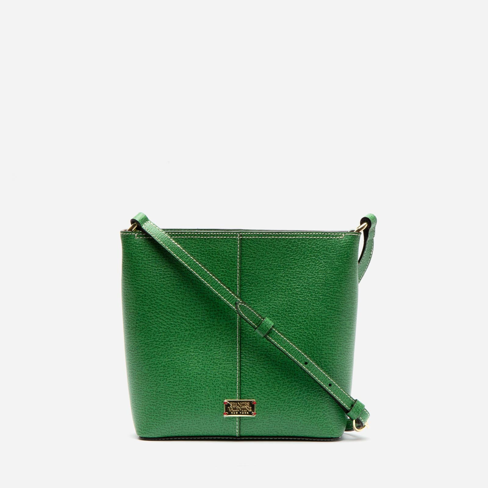Small Finn Boarskin Leather Green - Frances Valentine