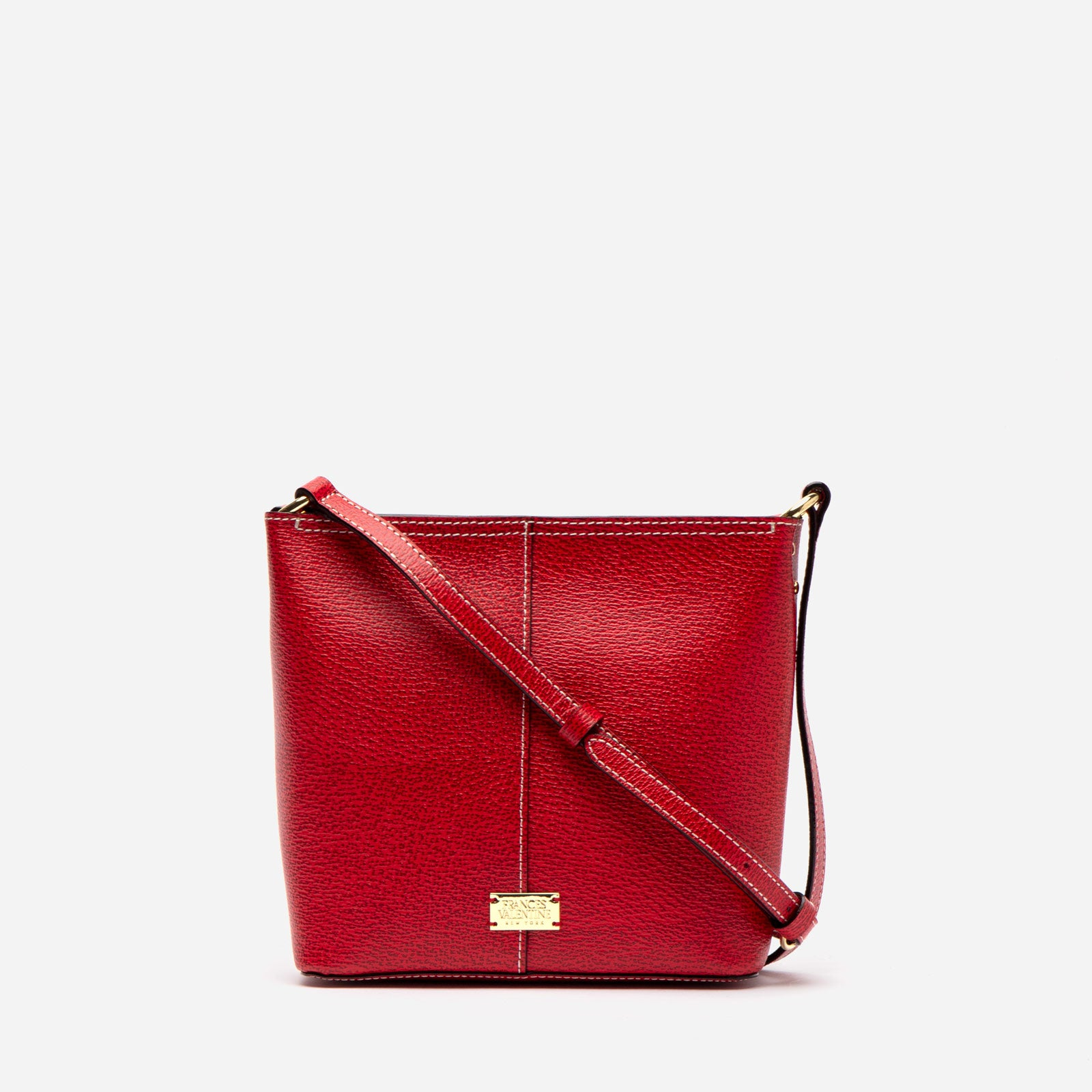 Small Finn Boarskin Leather Red - Frances Valentine