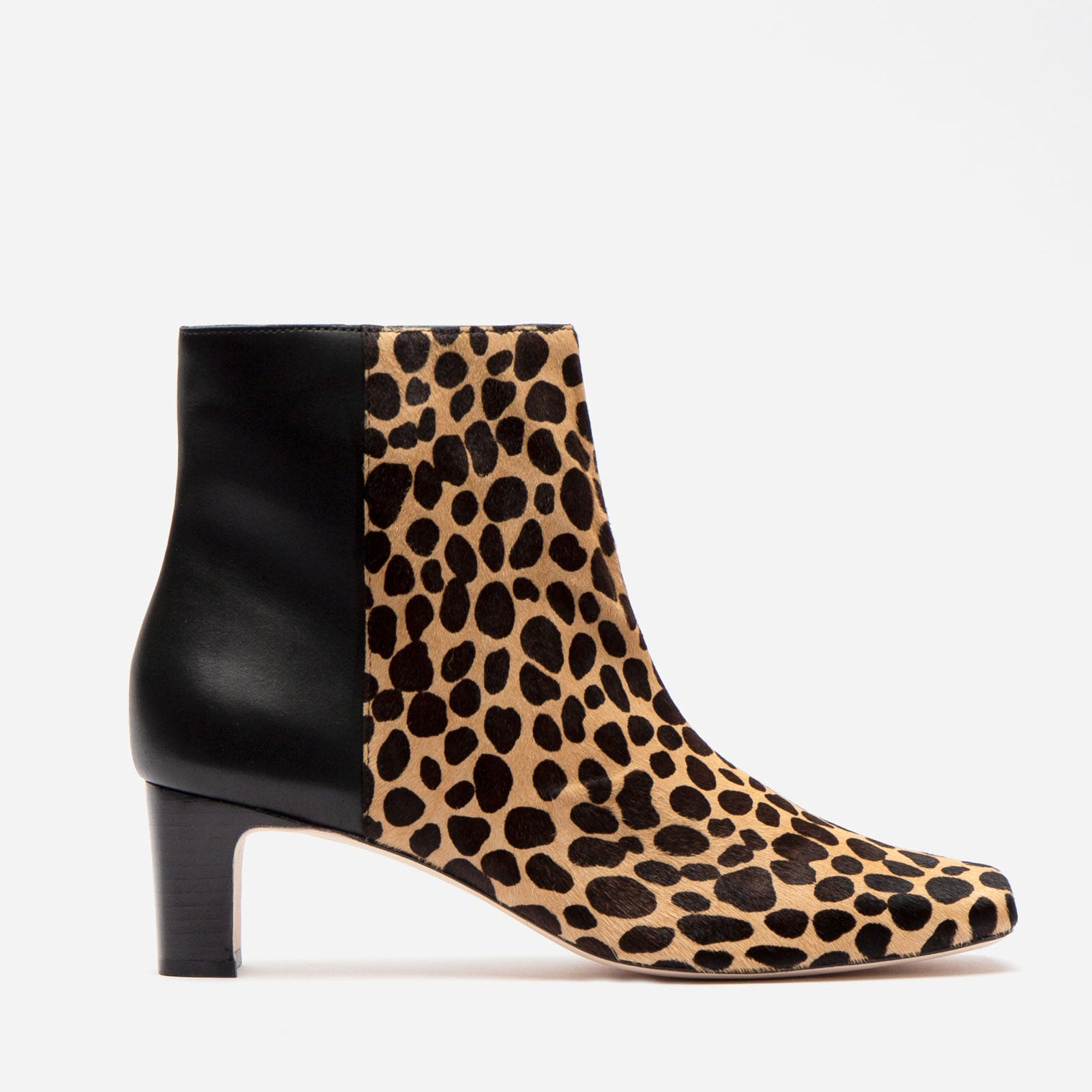 Eleanor Boot Printed Haircalf Cheetah - Frances Valentine