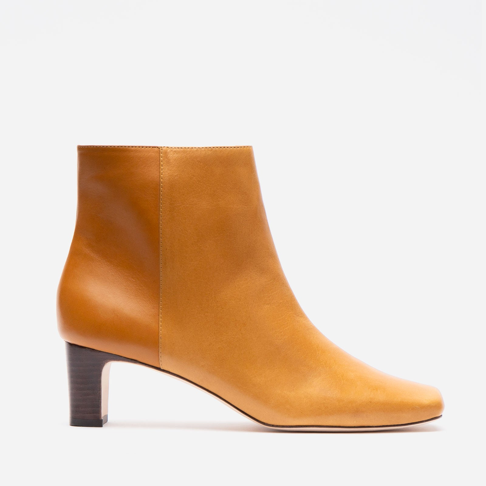 Eleanor Boot Naplak Caramel - Frances Valentine