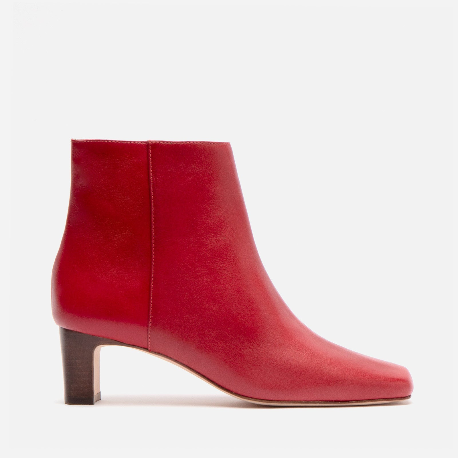 Eleanor Boot Naplak Red - Frances Valentine