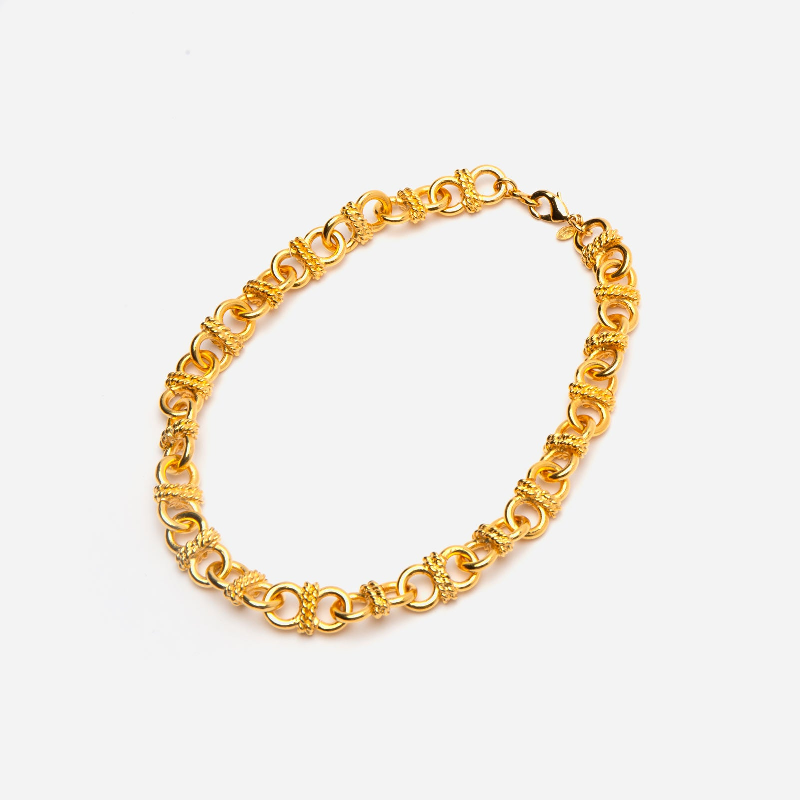 Linked Gold Necklace