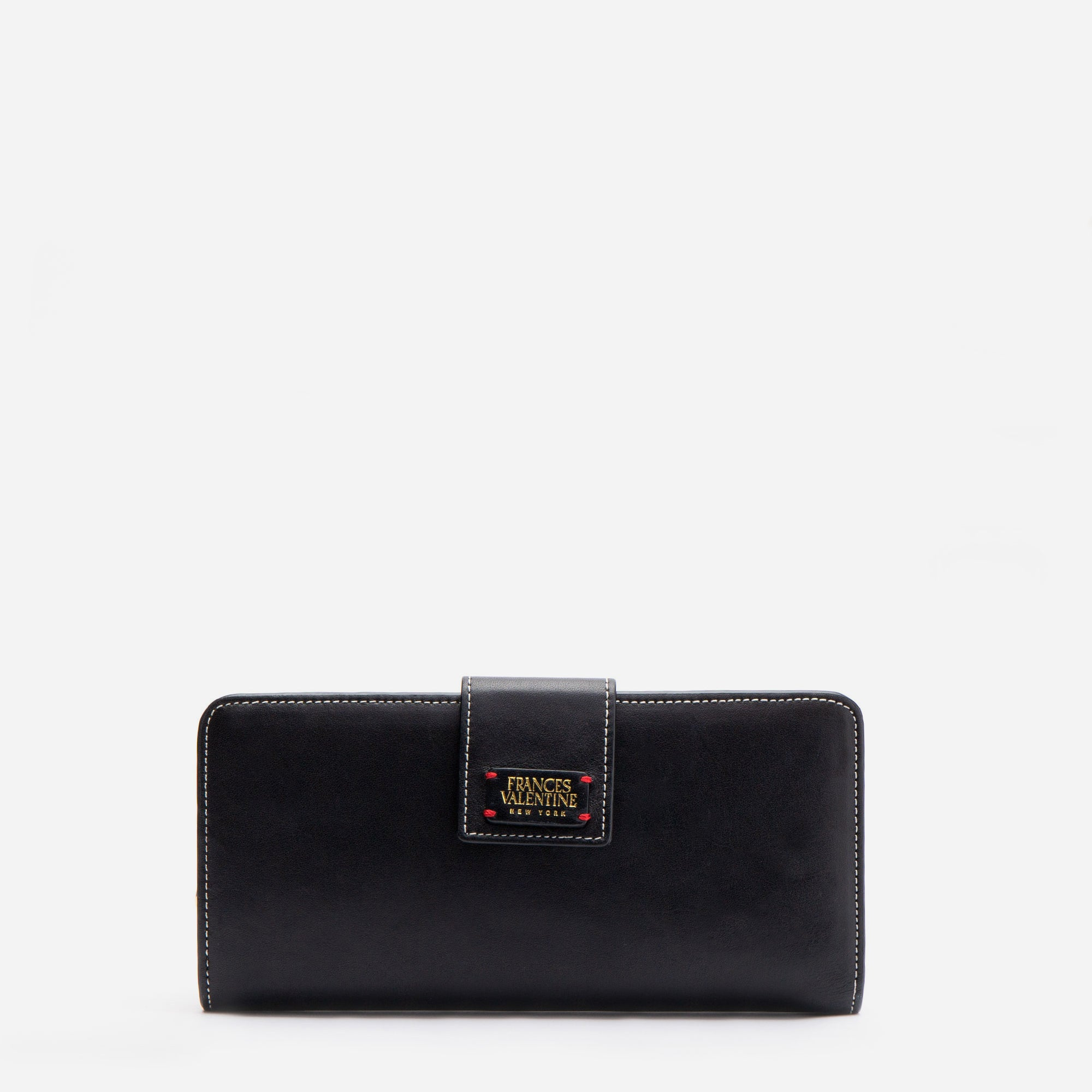 Jefferson Slim Wallet Black Oyster - Frances Valentine