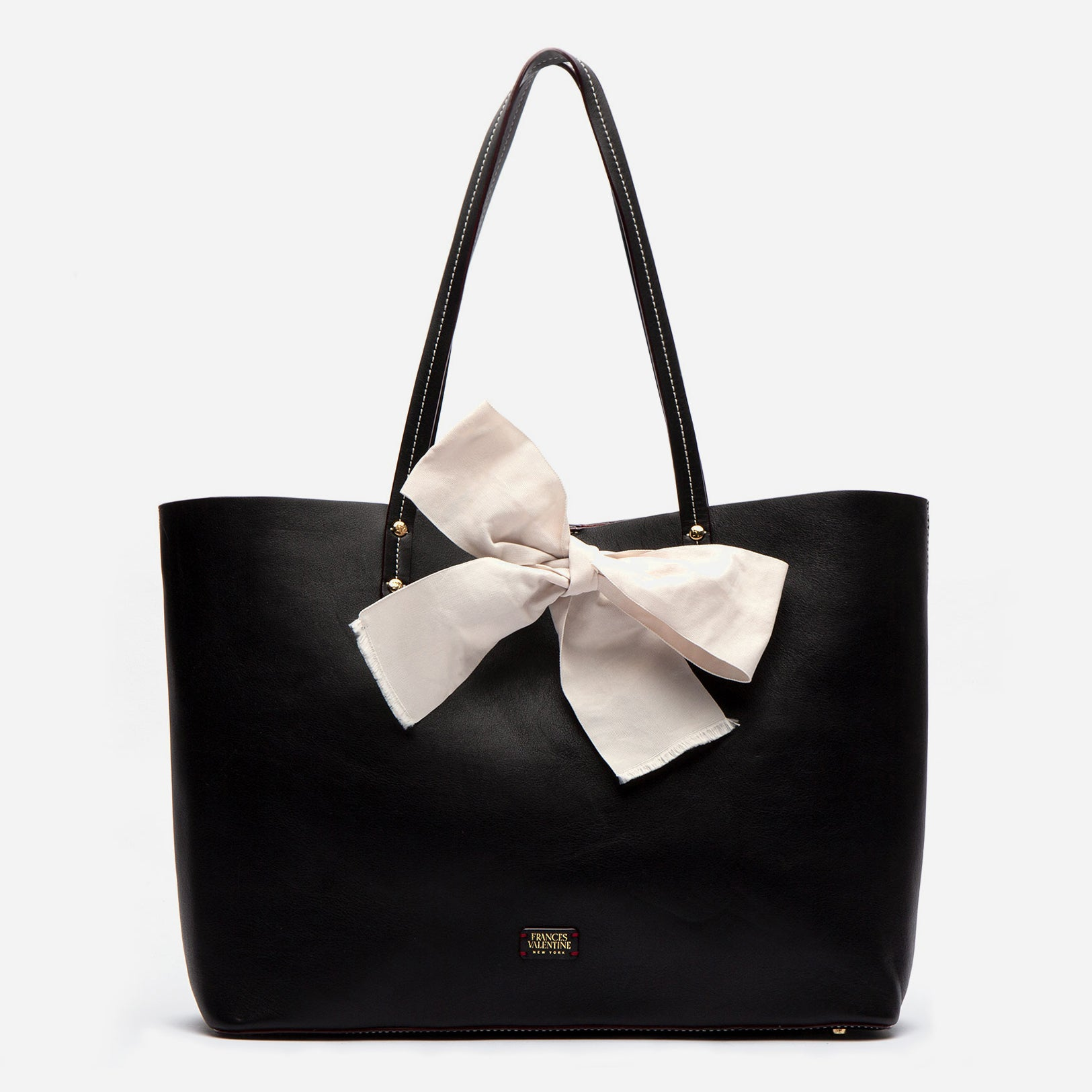 Trixie Bow Tote Black Oyster