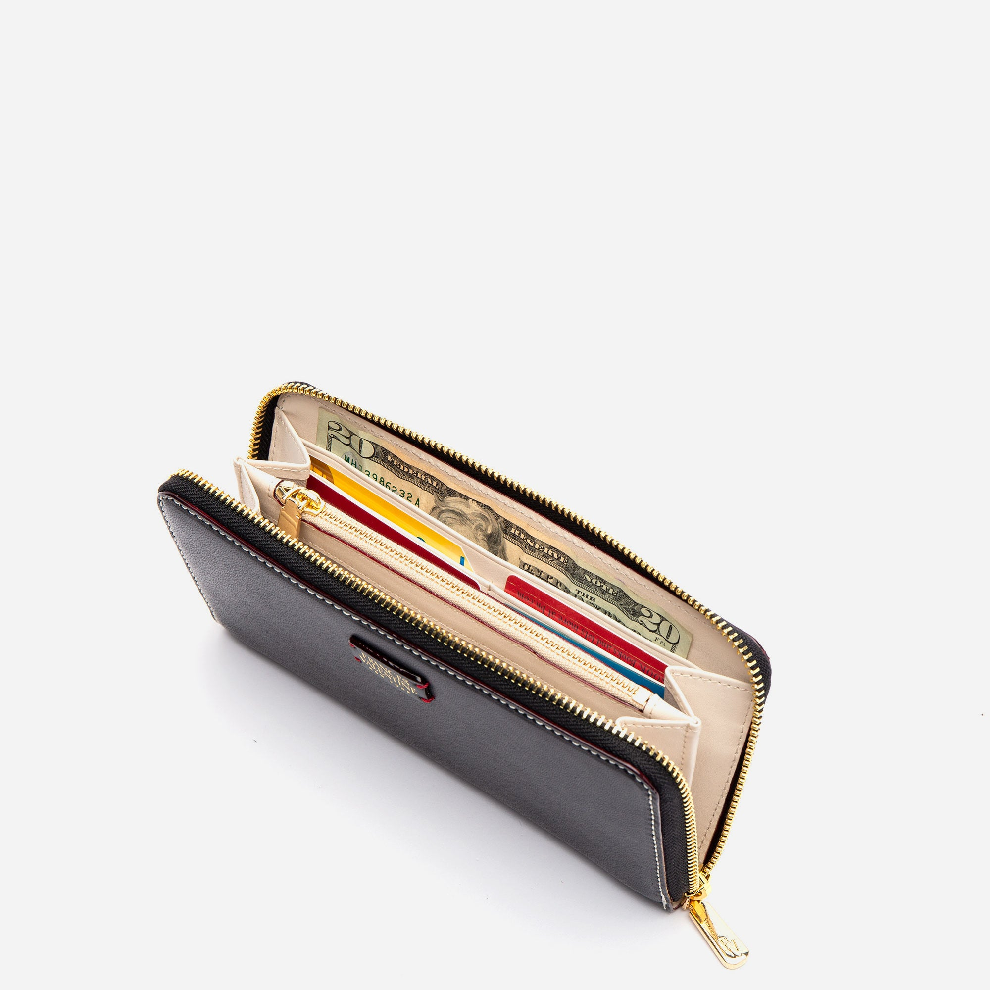 Washington Zip Wallet Black Oyster