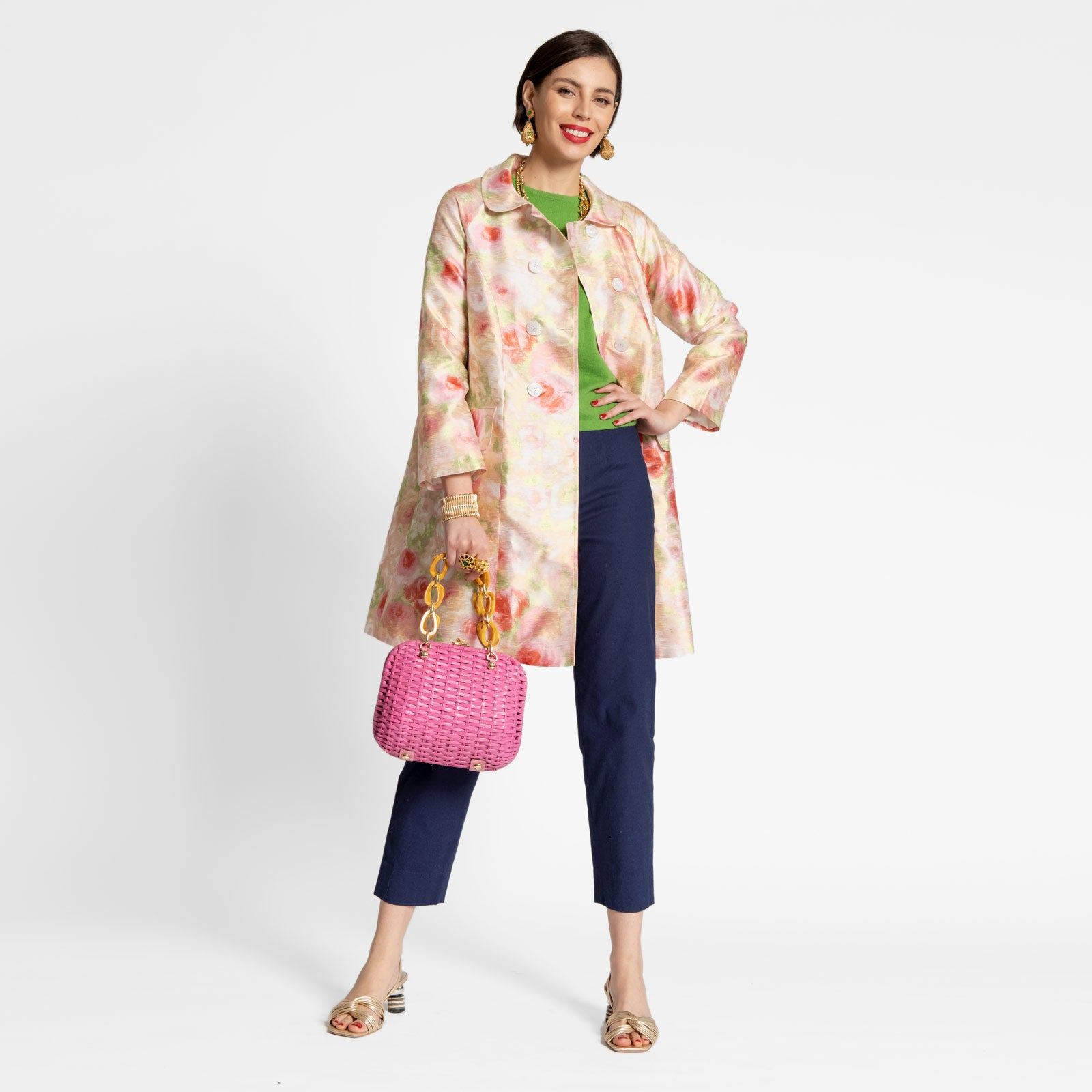 Camilla Floral Swing Trench - Frances Valentine
