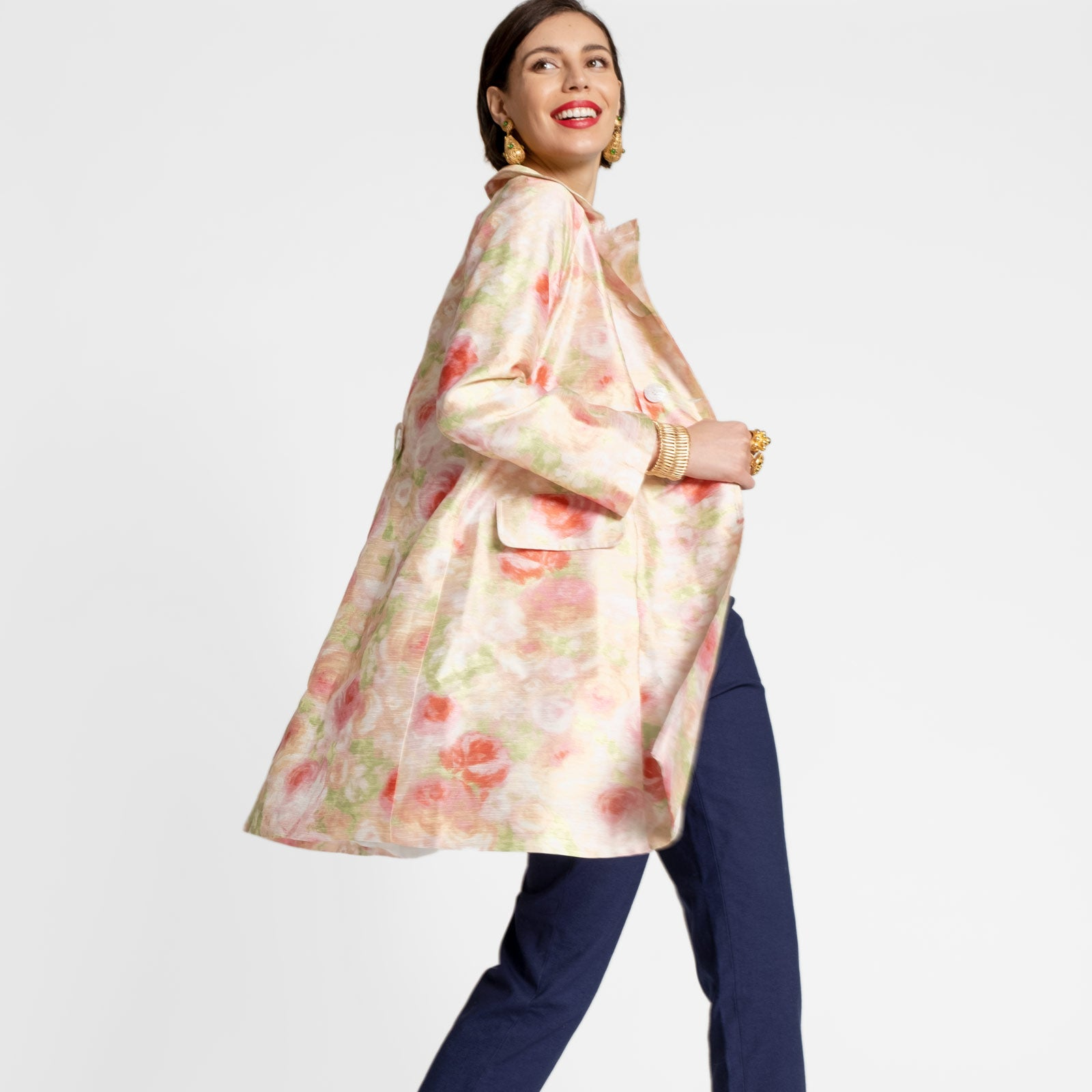 Camilla Floral Swing Trench