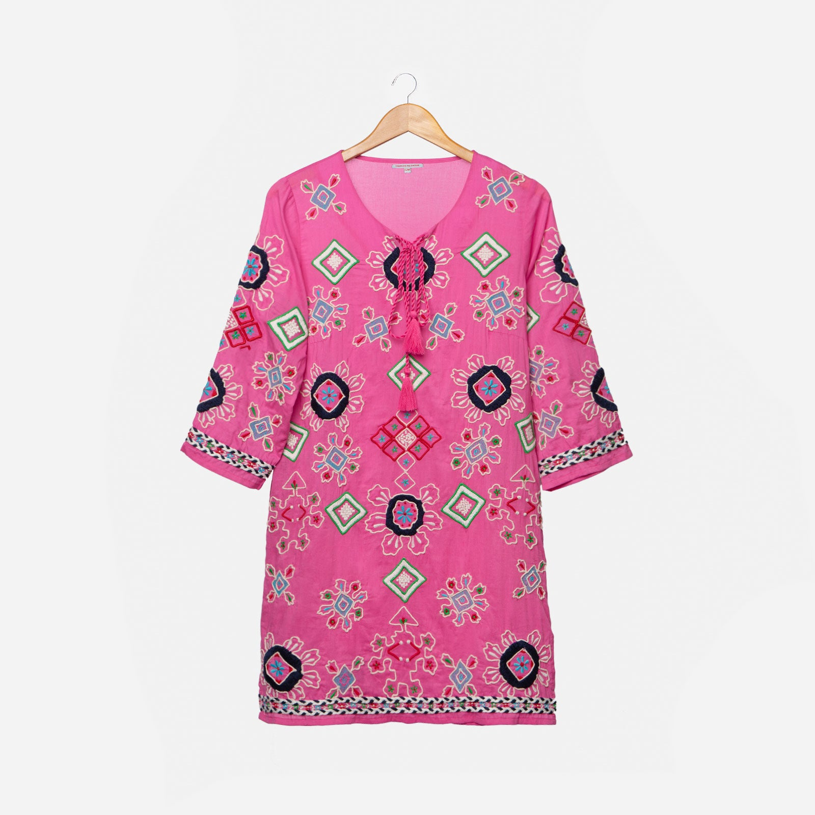 Capri Embroidered Tunic Pink