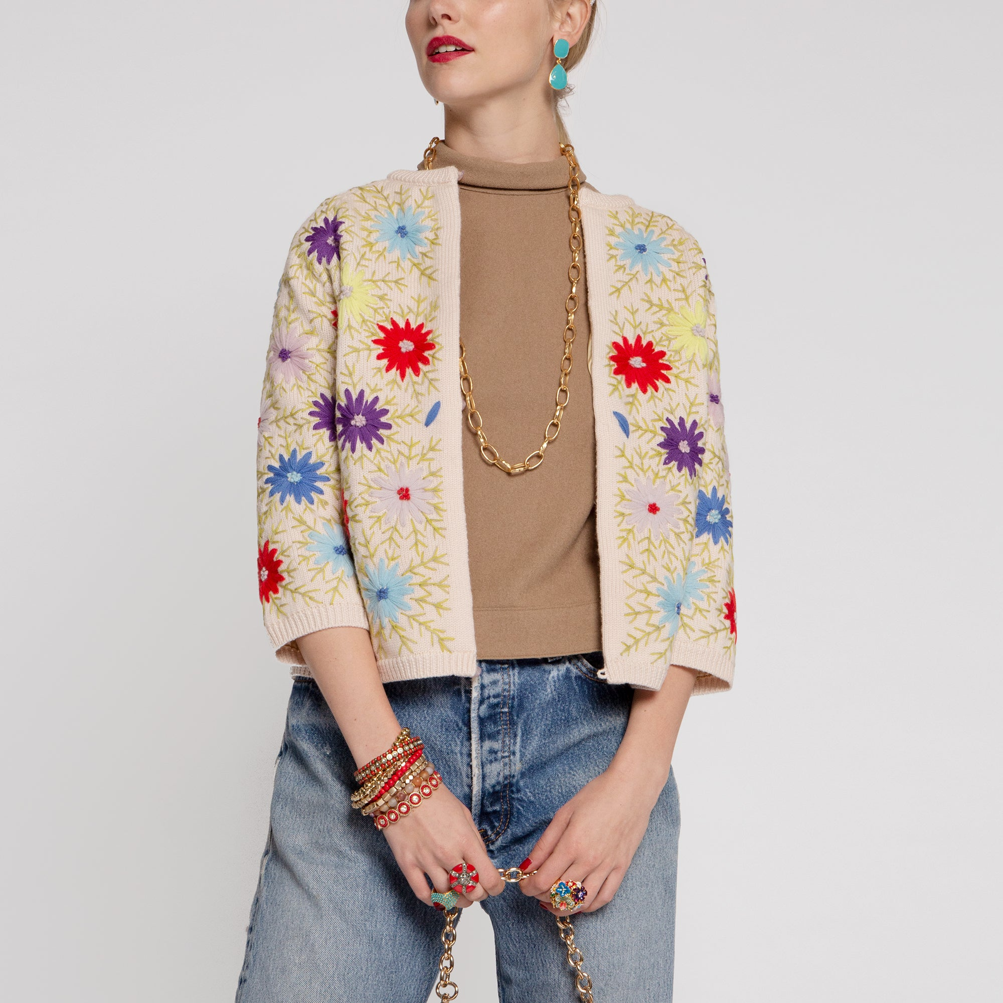 Katy's Flower Cardi Coat