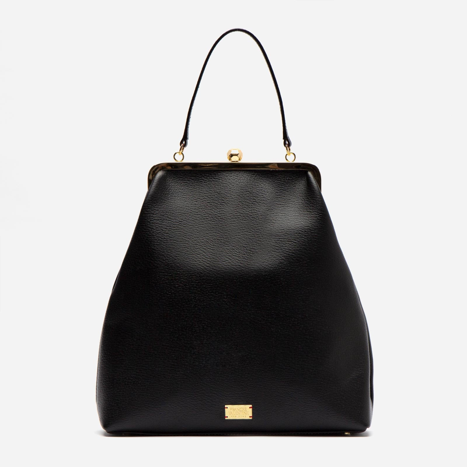 Caroline Frame Bag Boarskin Black - Frances Valentine