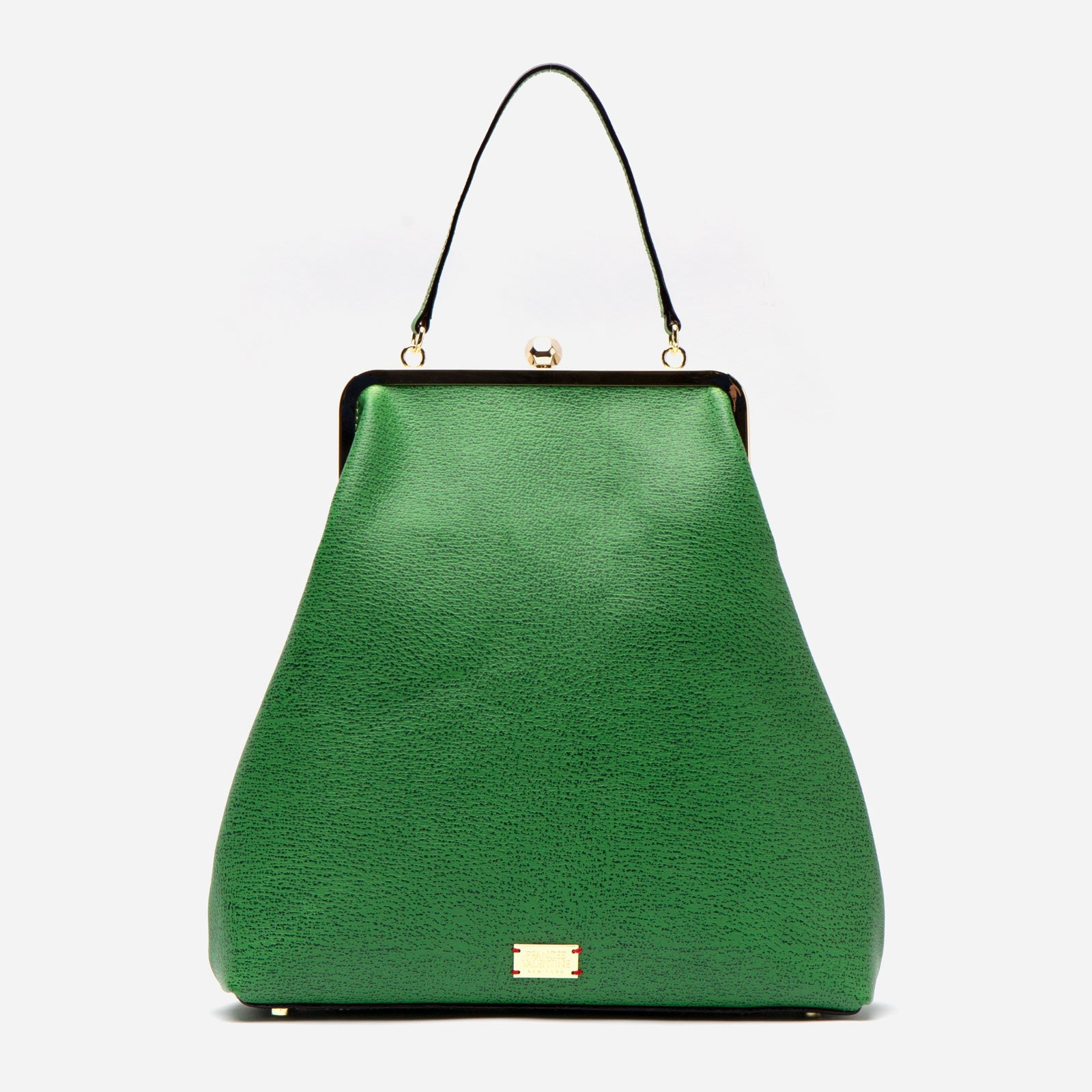 Caroline Frame Bag Boarskin Green - Frances Valentine