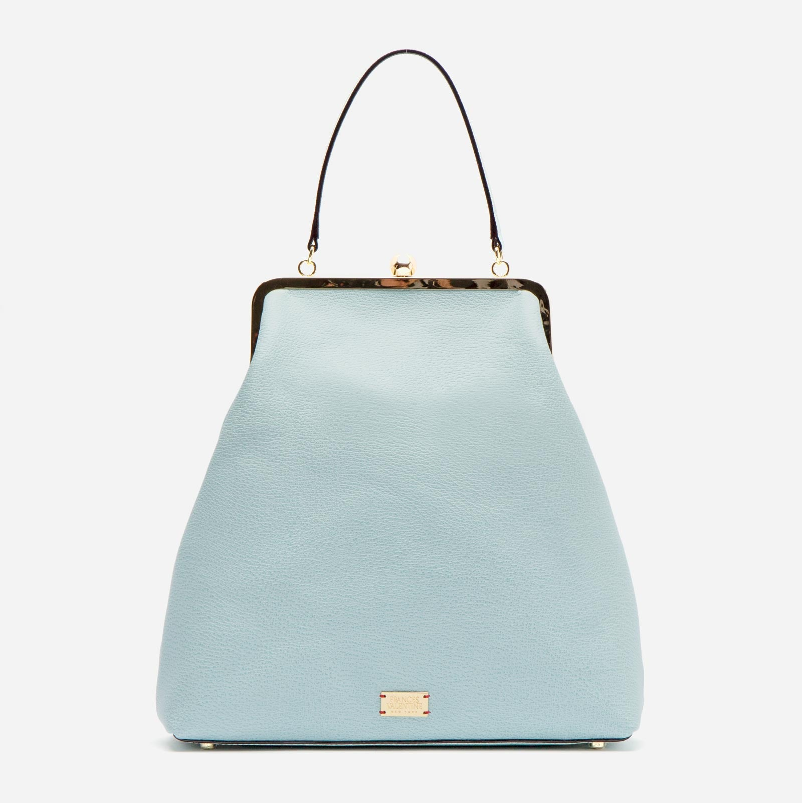 Caroline Frame Bag Boarskin Light Blue - Frances Valentine