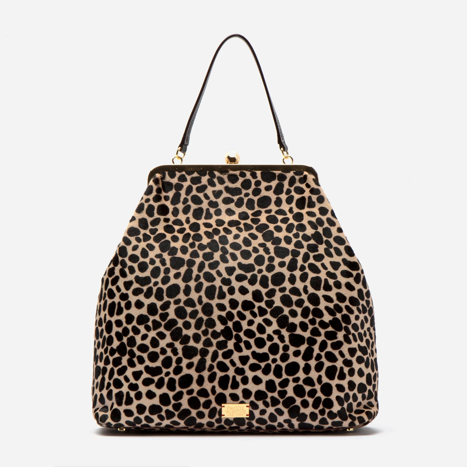 Caroline Crossbody Printed Haircalf Cheetah - Frances Valentine