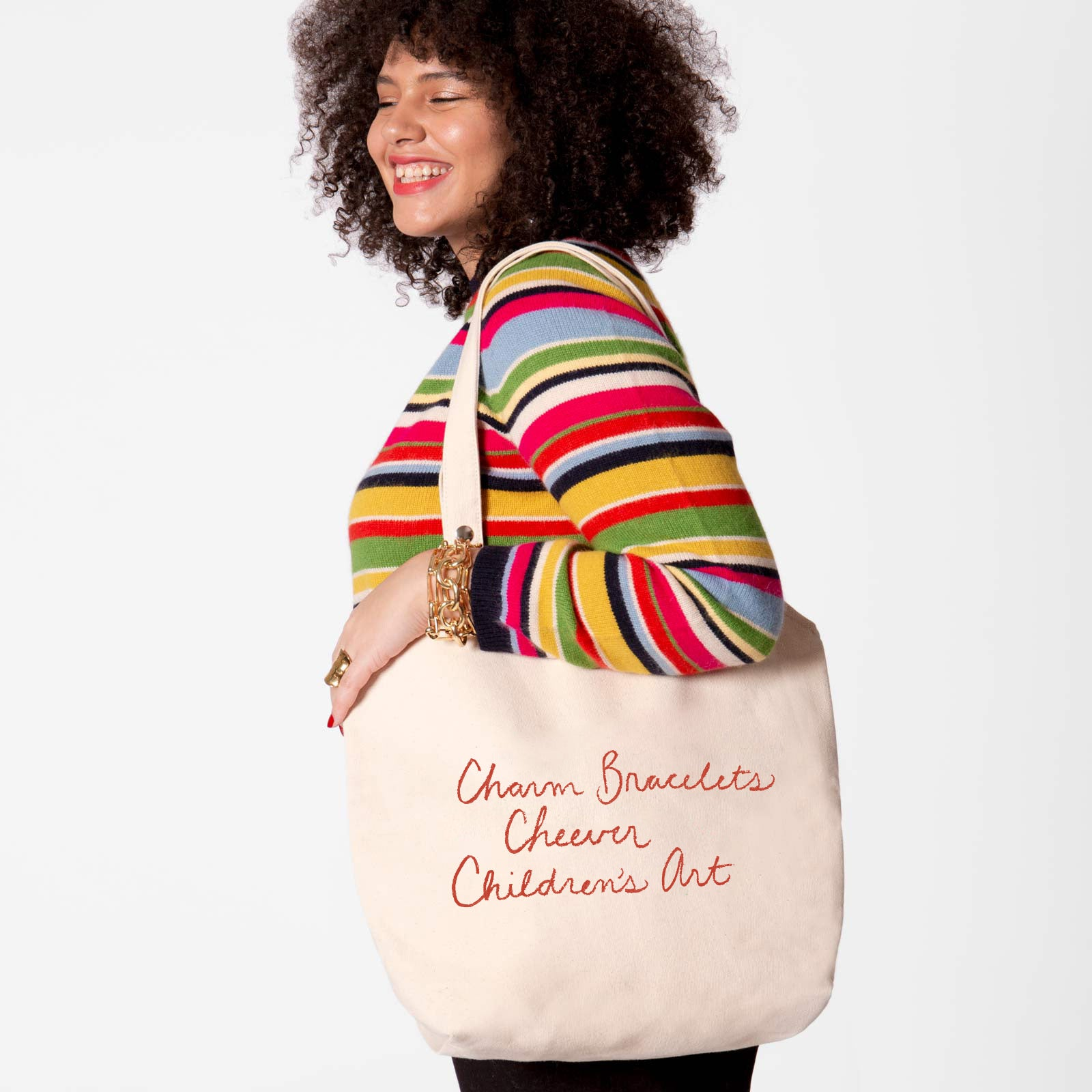 Canvas Tote Favorite Things Red