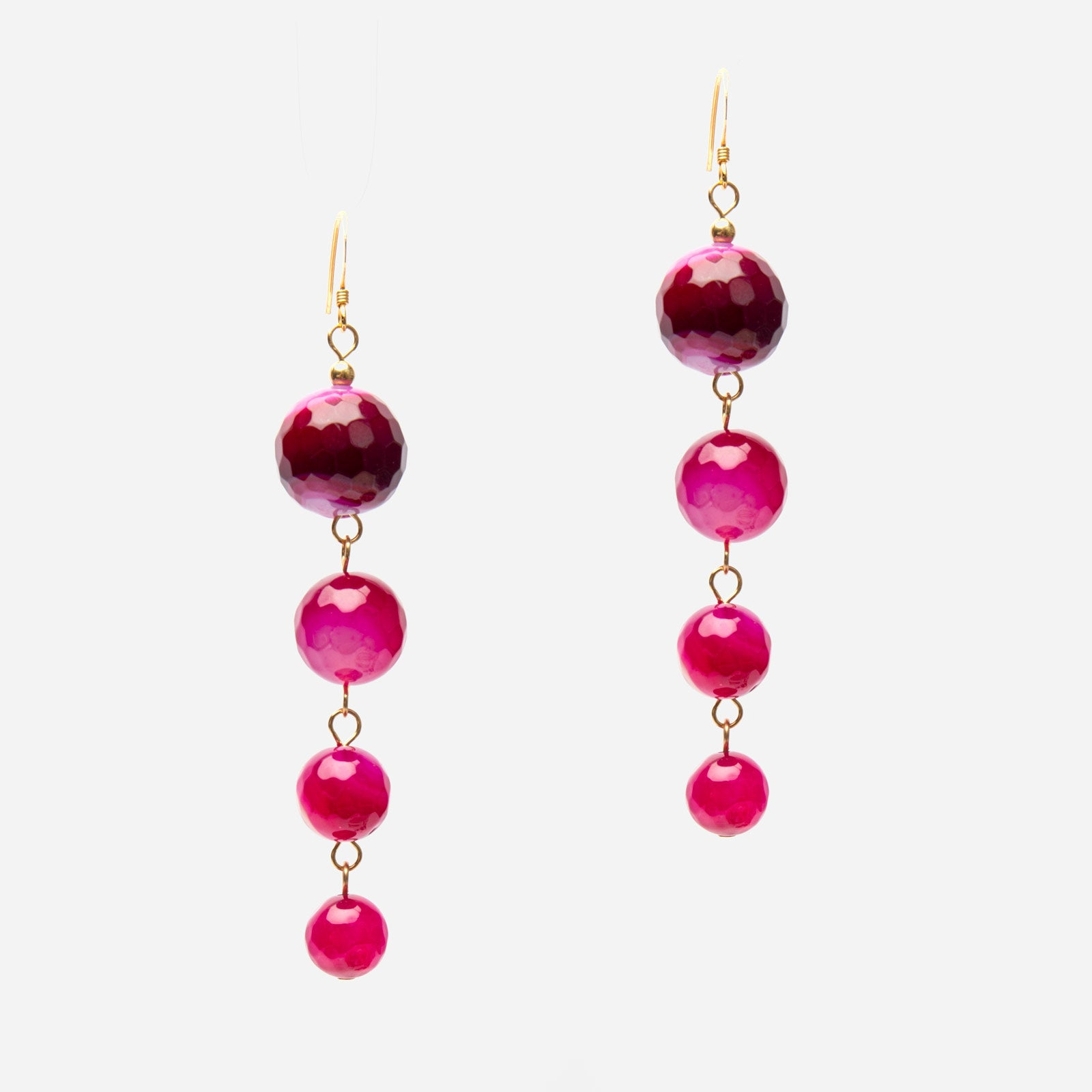 Cherry Agate Drop Earrings