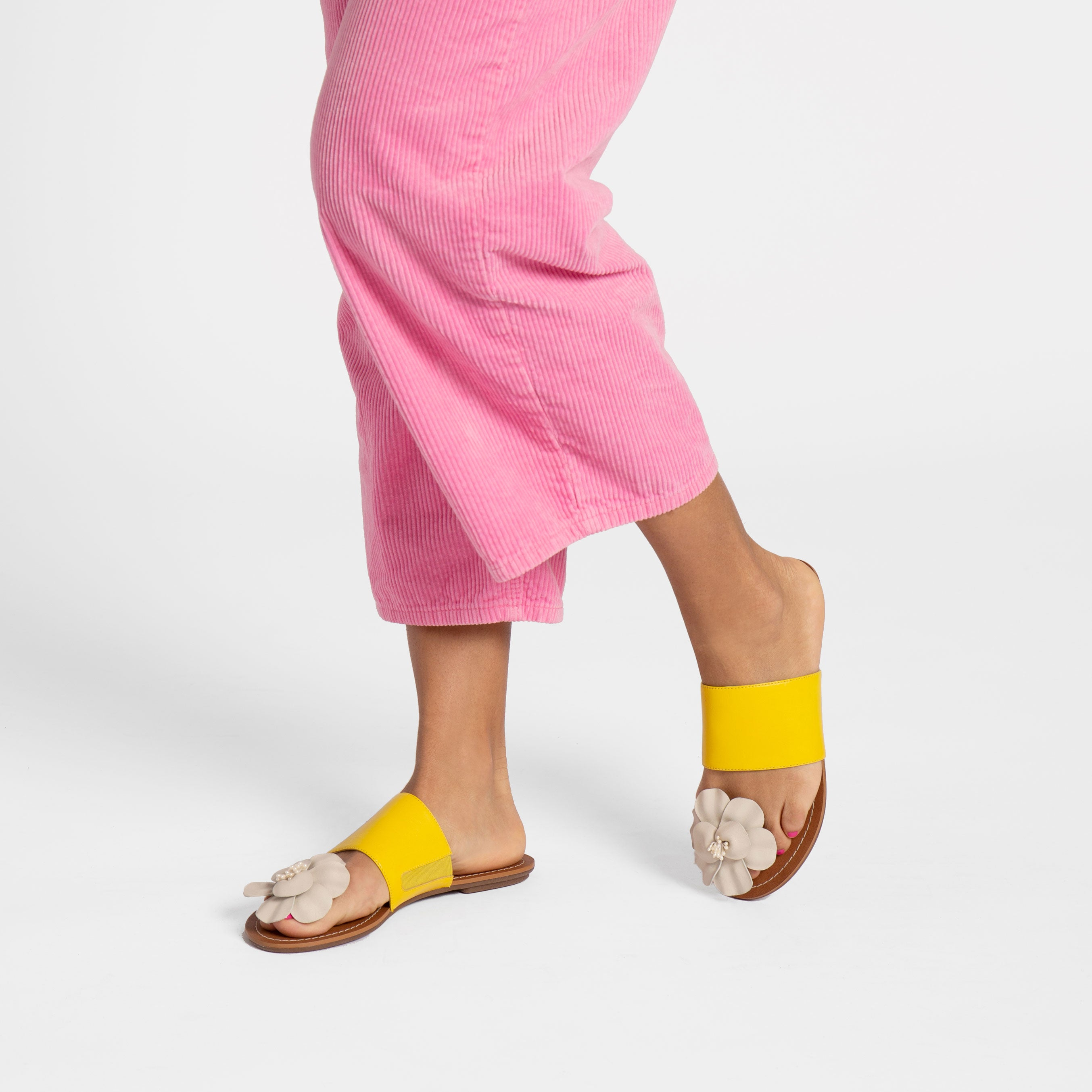 Clementine Flower Sandal Yellow