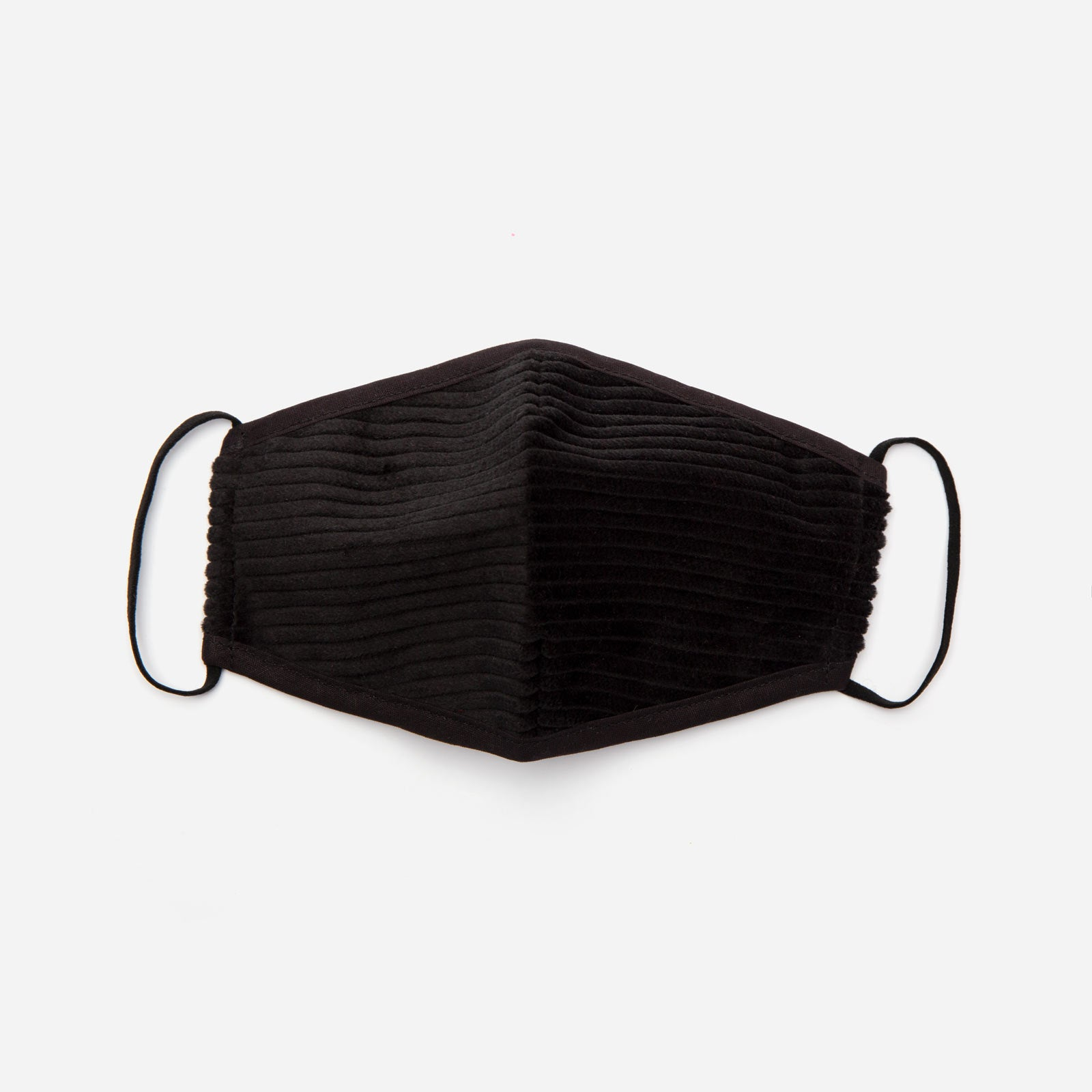 Fitted Mask Corduroy Black