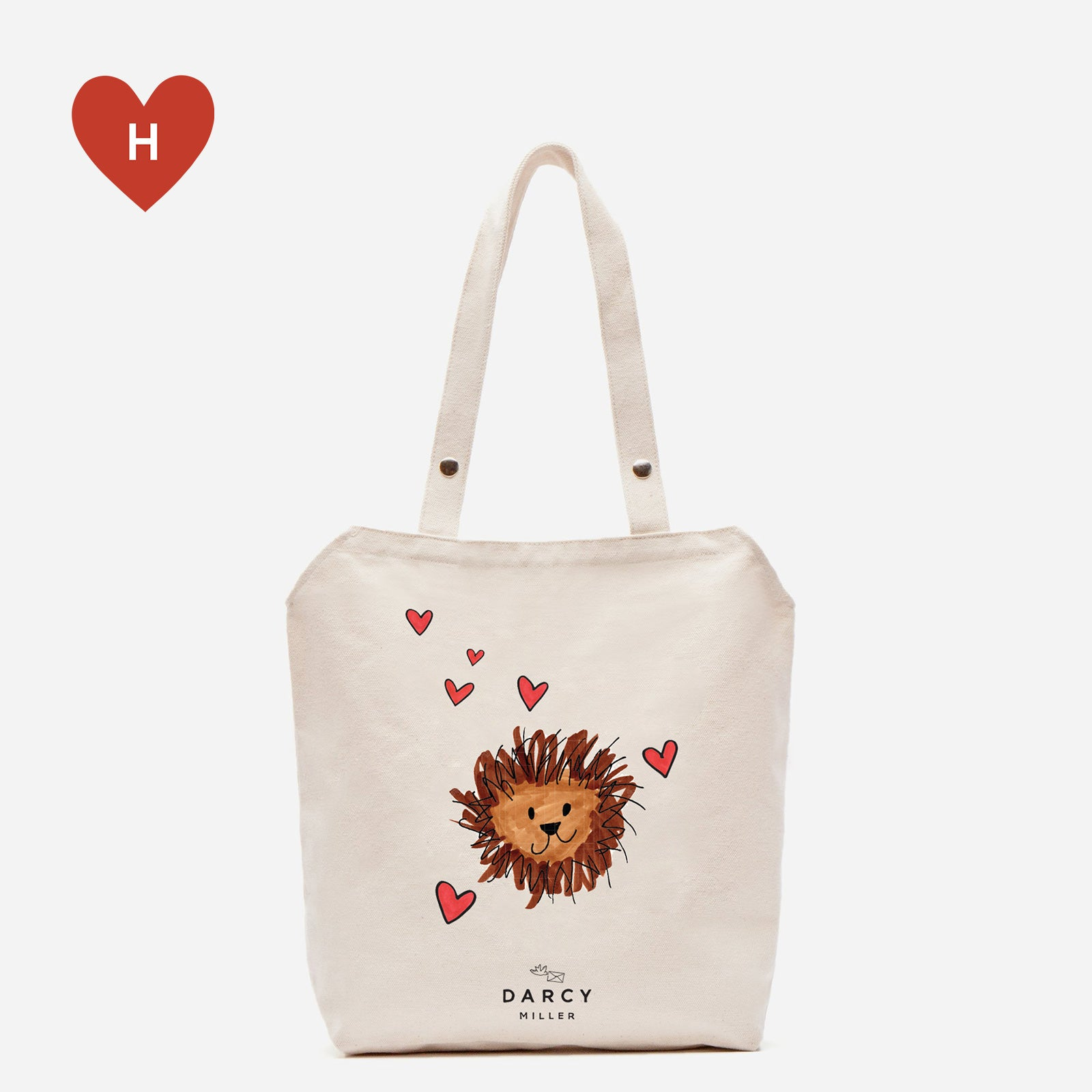 *DONATE TO A HEALTHCARE HERO* Have Courage Canvas Tote by Darcy Miller