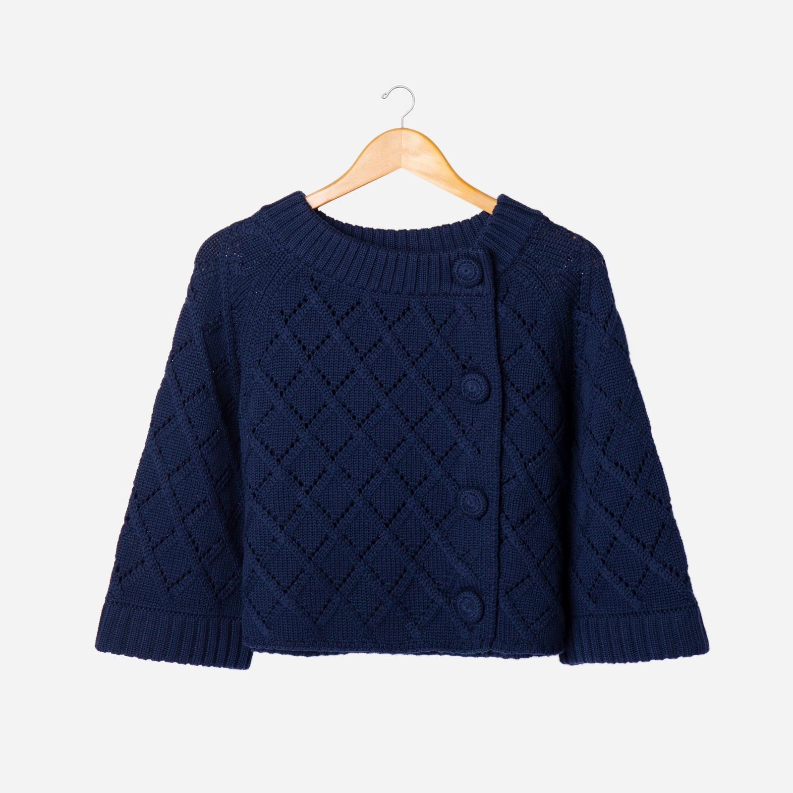 Diamond Cardigan Navy