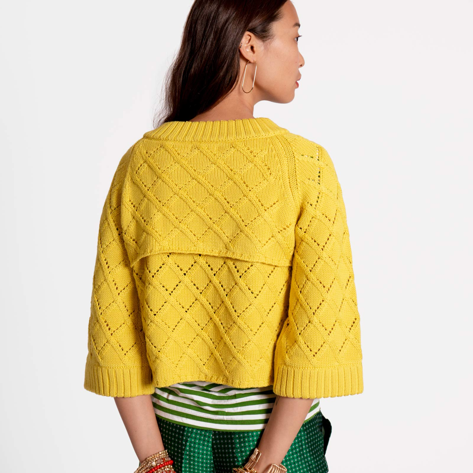 Diamond Cardigan Yellow
