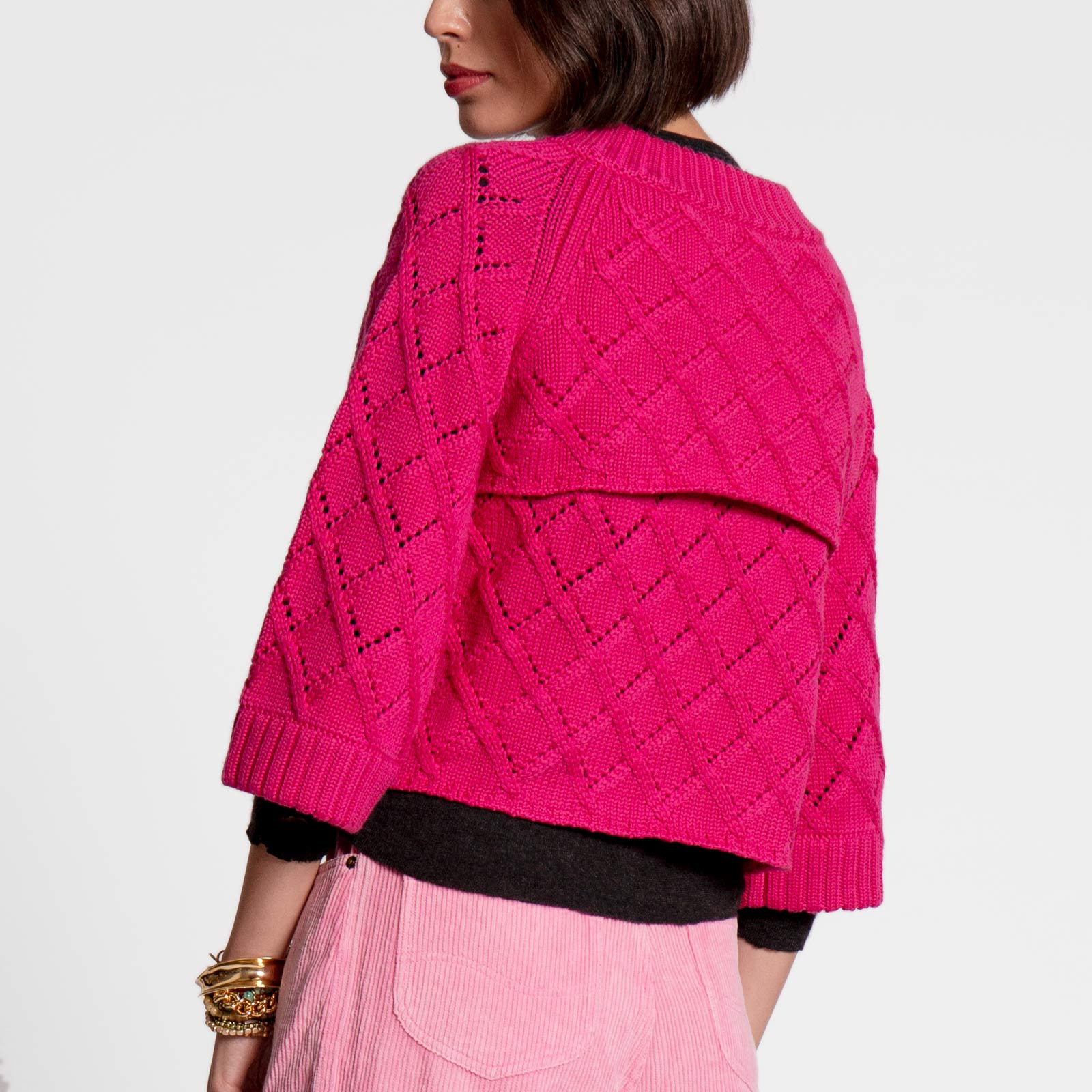 Diamond Cardigan Pink
