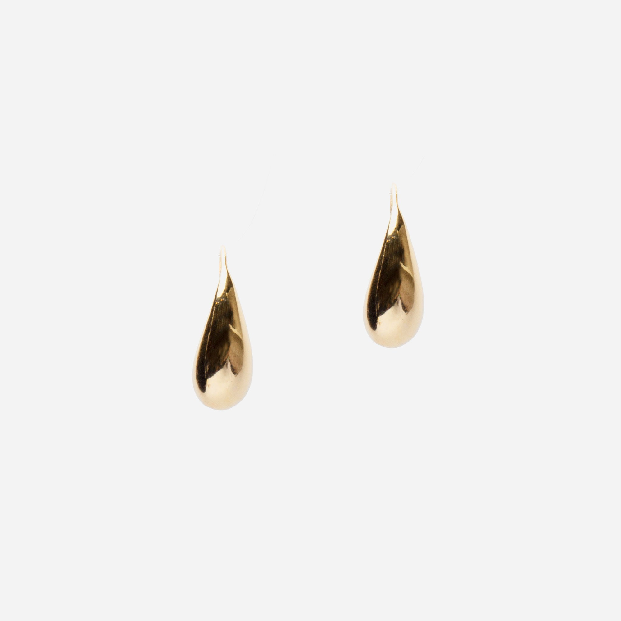 Gold Tear Earrings