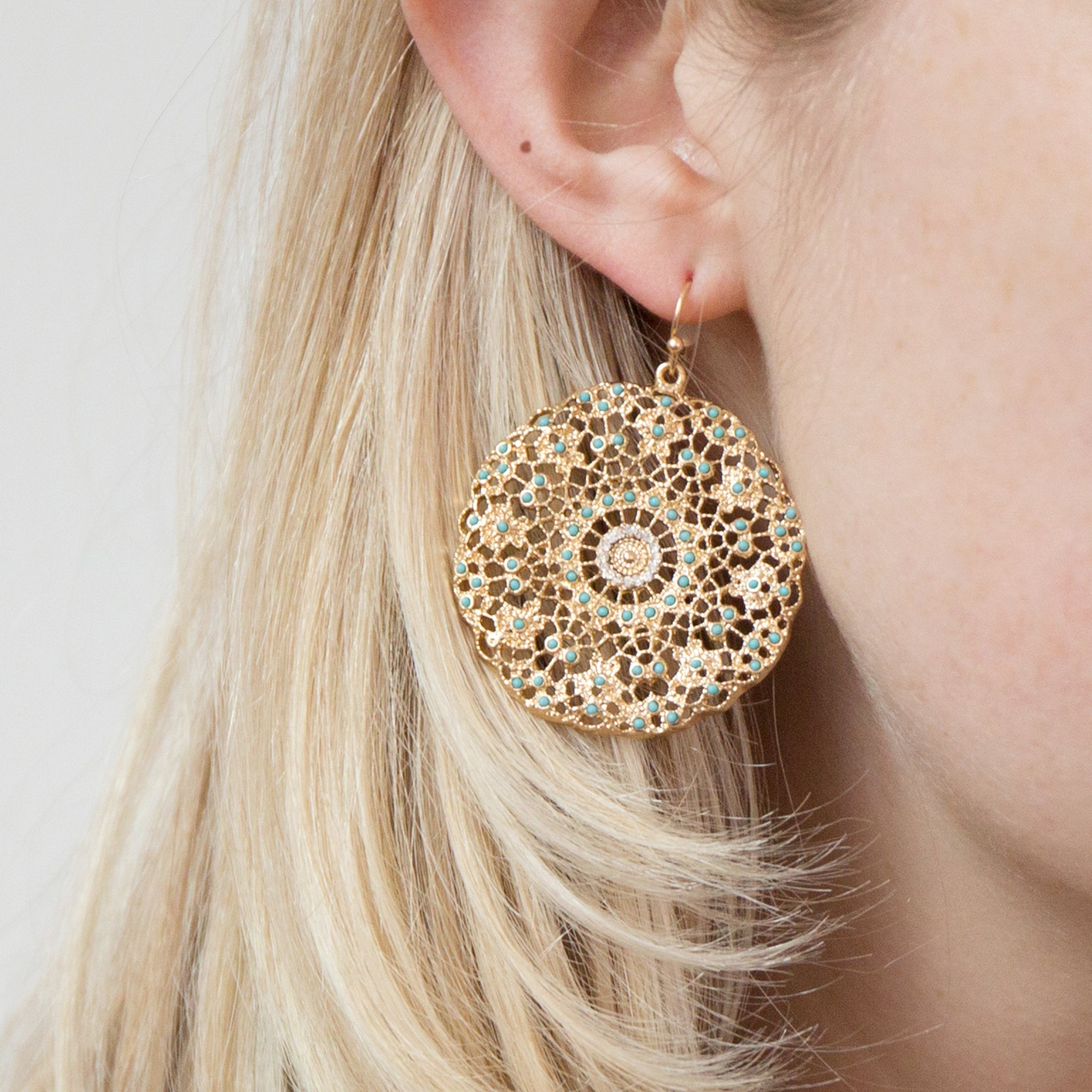 Sparkle Filigree Earrings