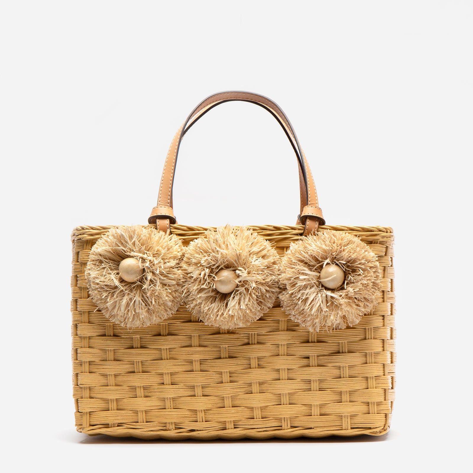 Edie Wicker Tote Natural - Frances Valentine