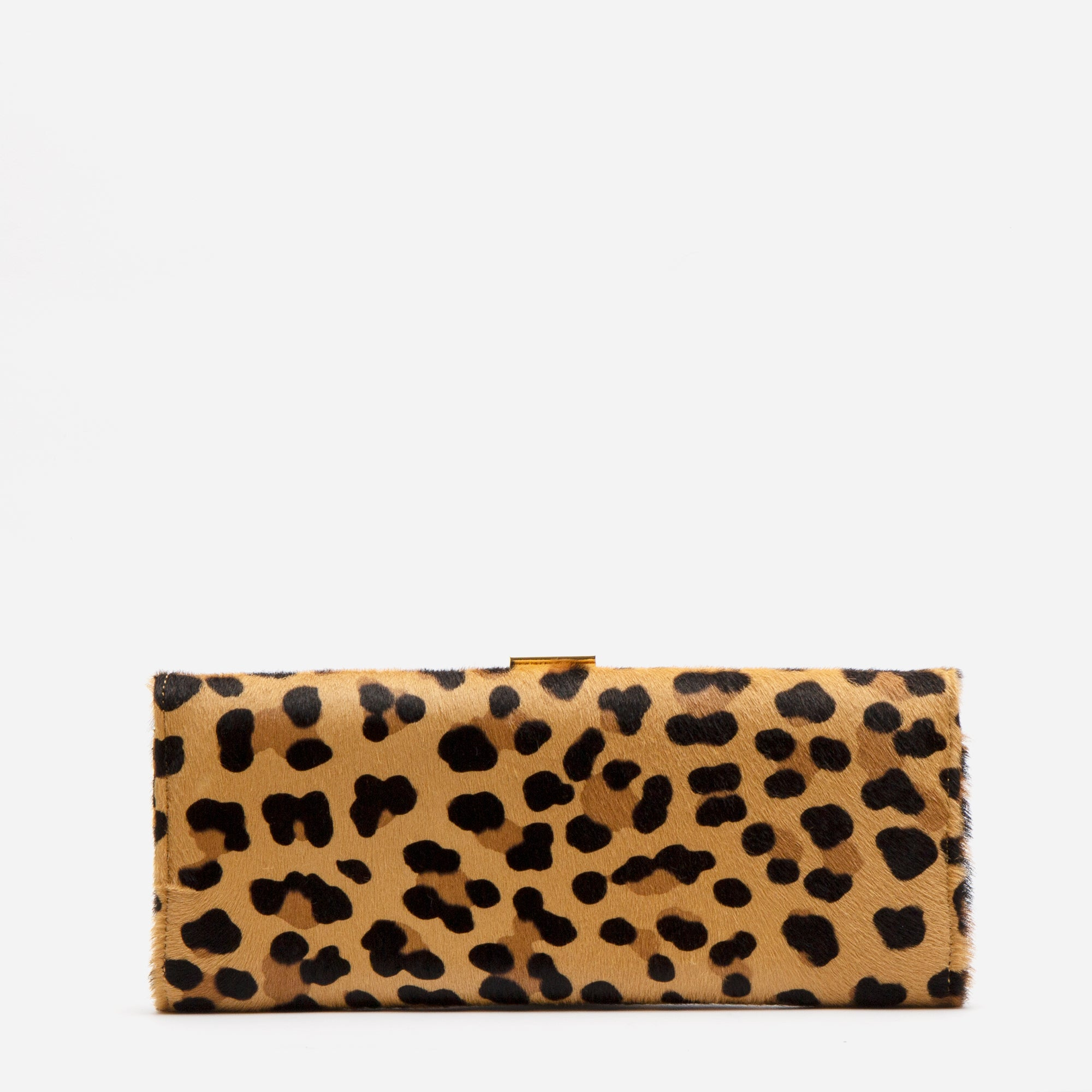 Eleni Handheld Clutch Leopard Printed Haircalf - Frances Valentine