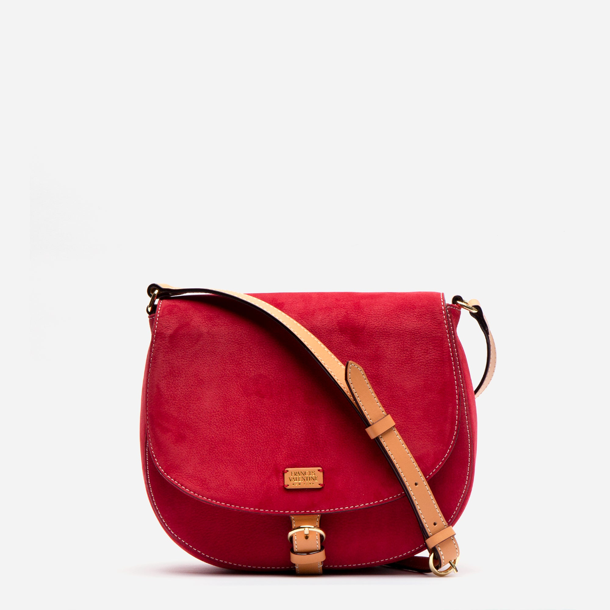 Ellen Satchel Tumbled Nubuck Red