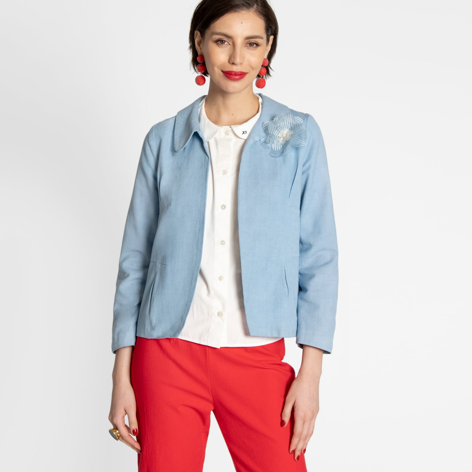 Elle Blazer Light Blue
