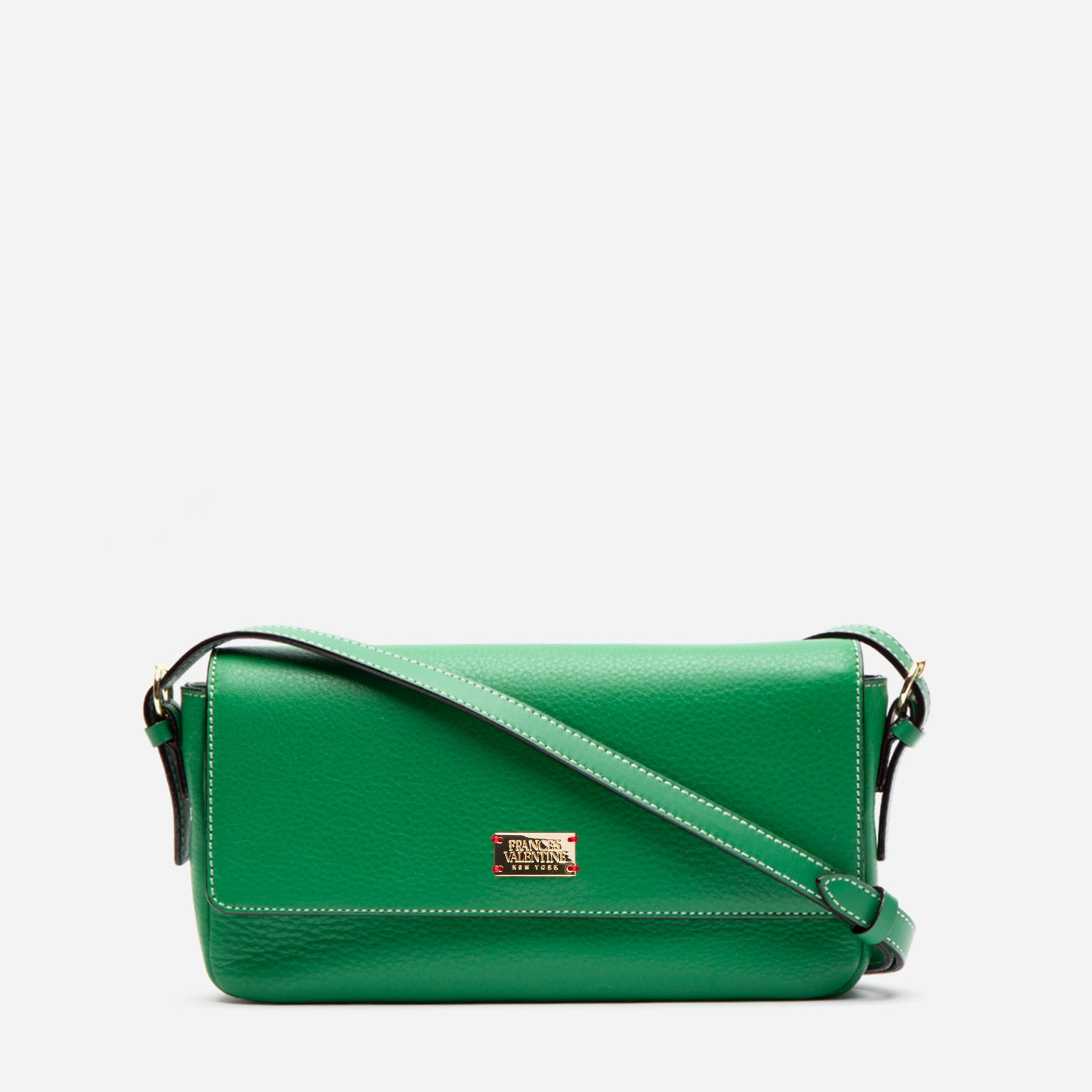 Ellie Crossbody Tumbled Leather Green