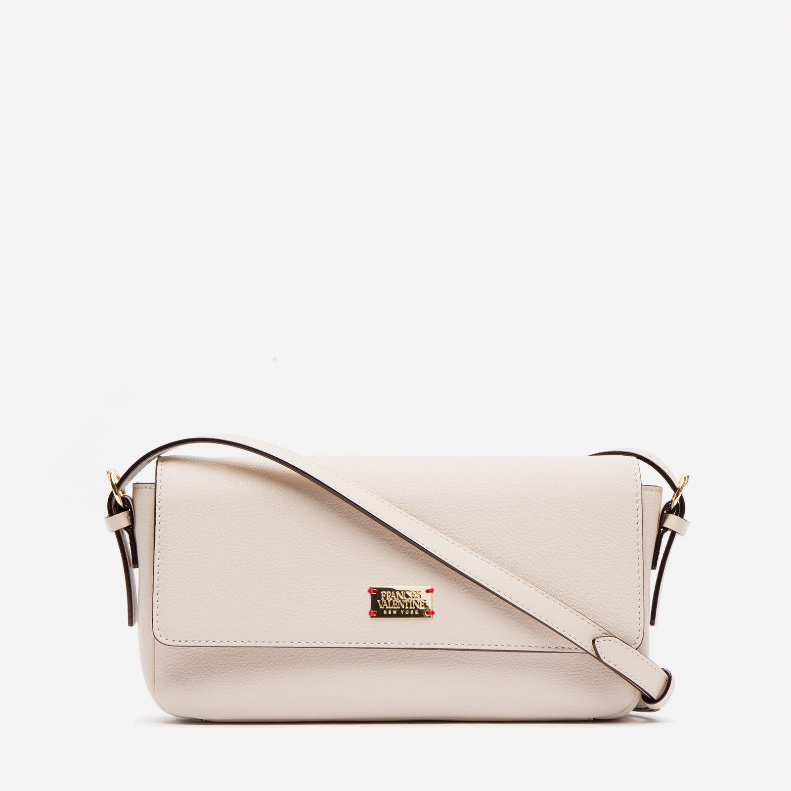 Ellie Crossbody Tumbled Leather Oyster - Frances Valentine