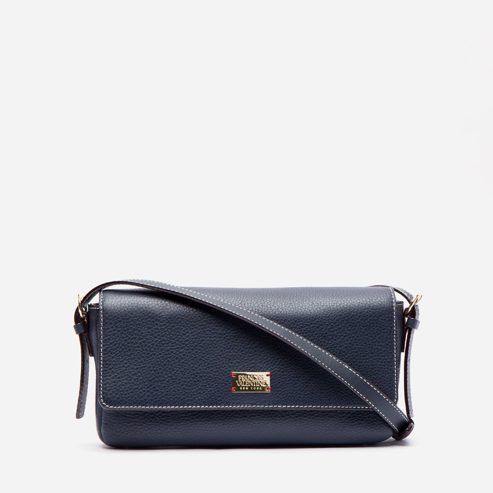 Ellie Crossbody Tumbled Leather Navy
