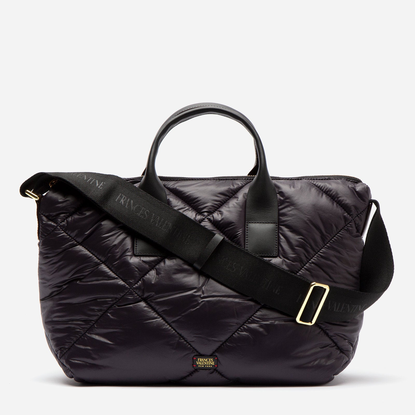 Elliot Tote Quilted Satin Nylon Black