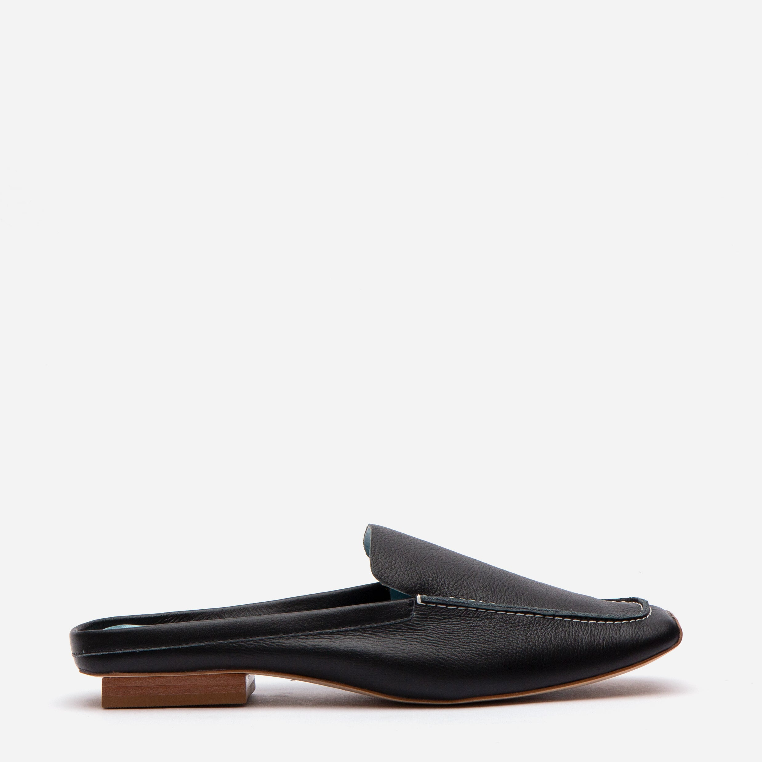 Elyce Mule Tumbled Leather Black - Frances Valentine