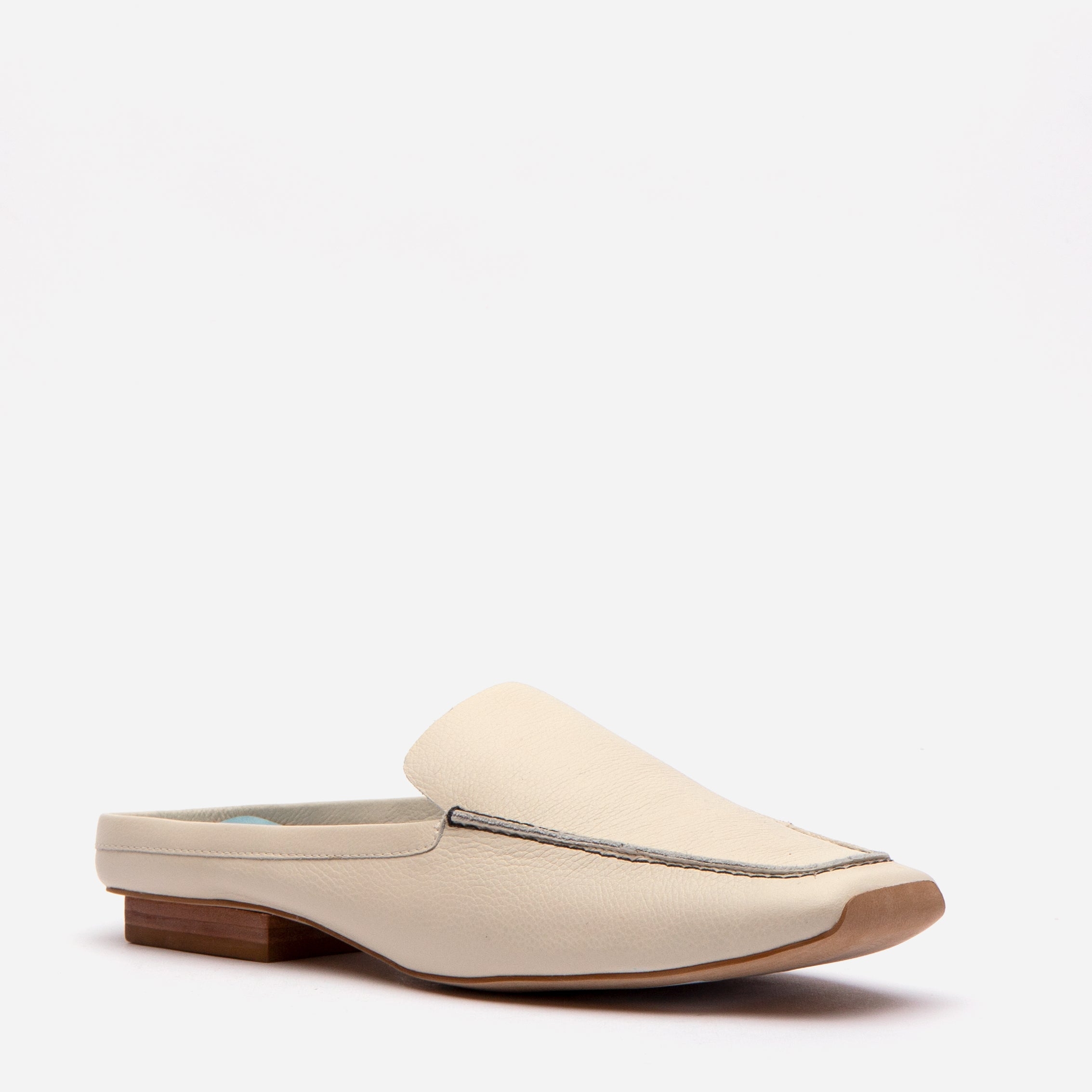 Elyce Mules Tumbled Leather Oyster