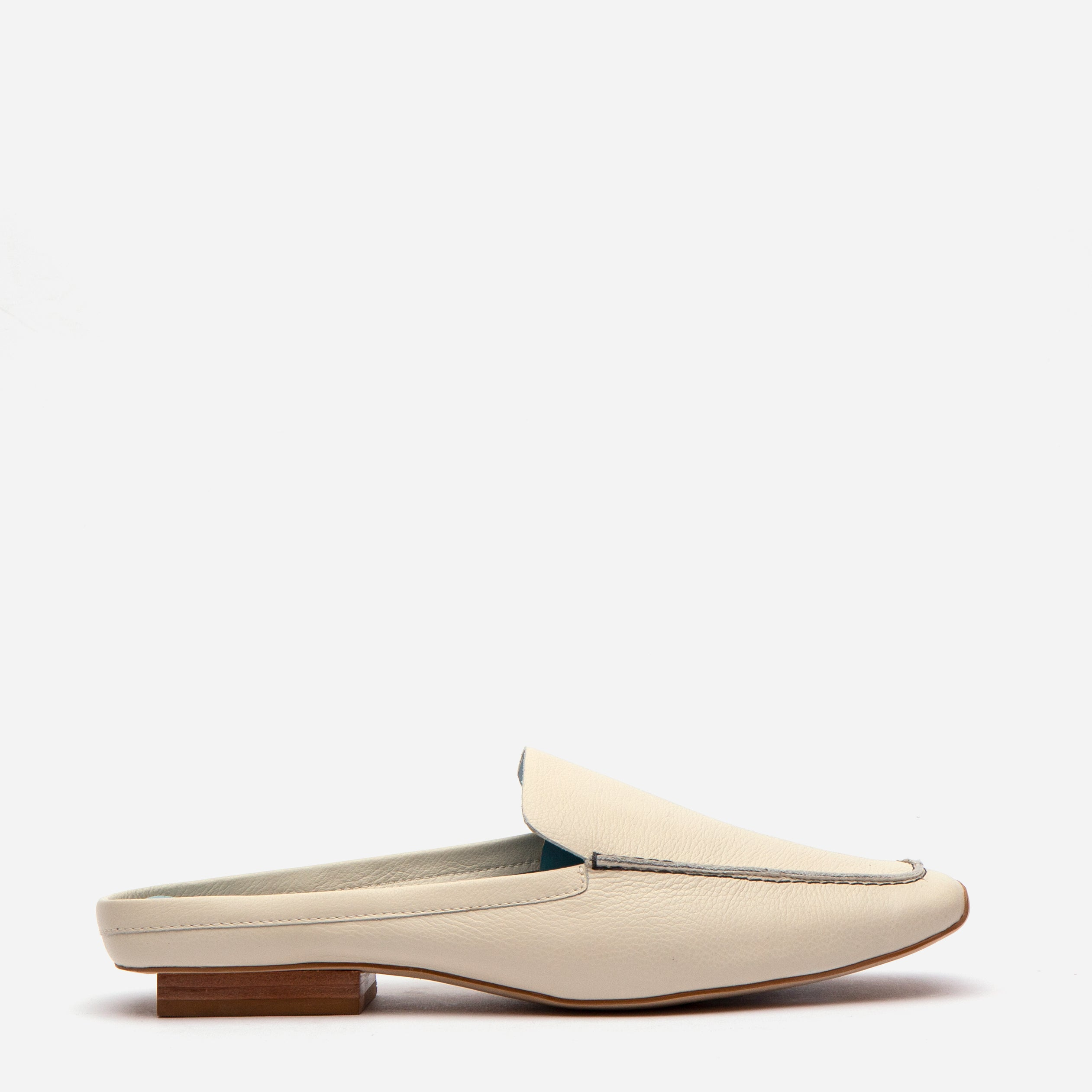 Elyce Mule Tumbled Leather Oyster - Frances Valentine