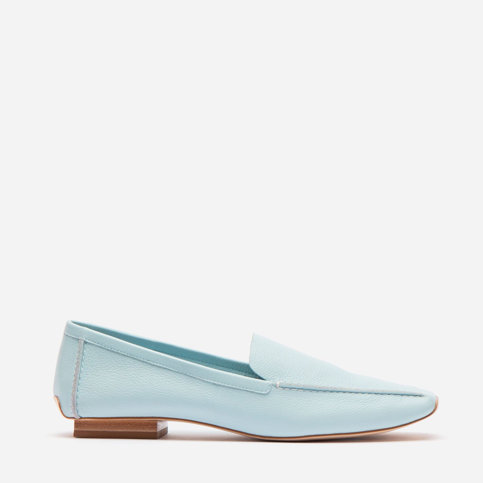 Elyce Loafer Leather Light Blue - Frances Valentine