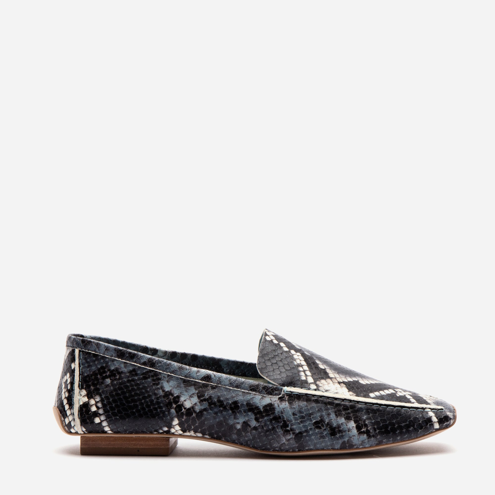 Elyce Loafer Printed Snake Navy