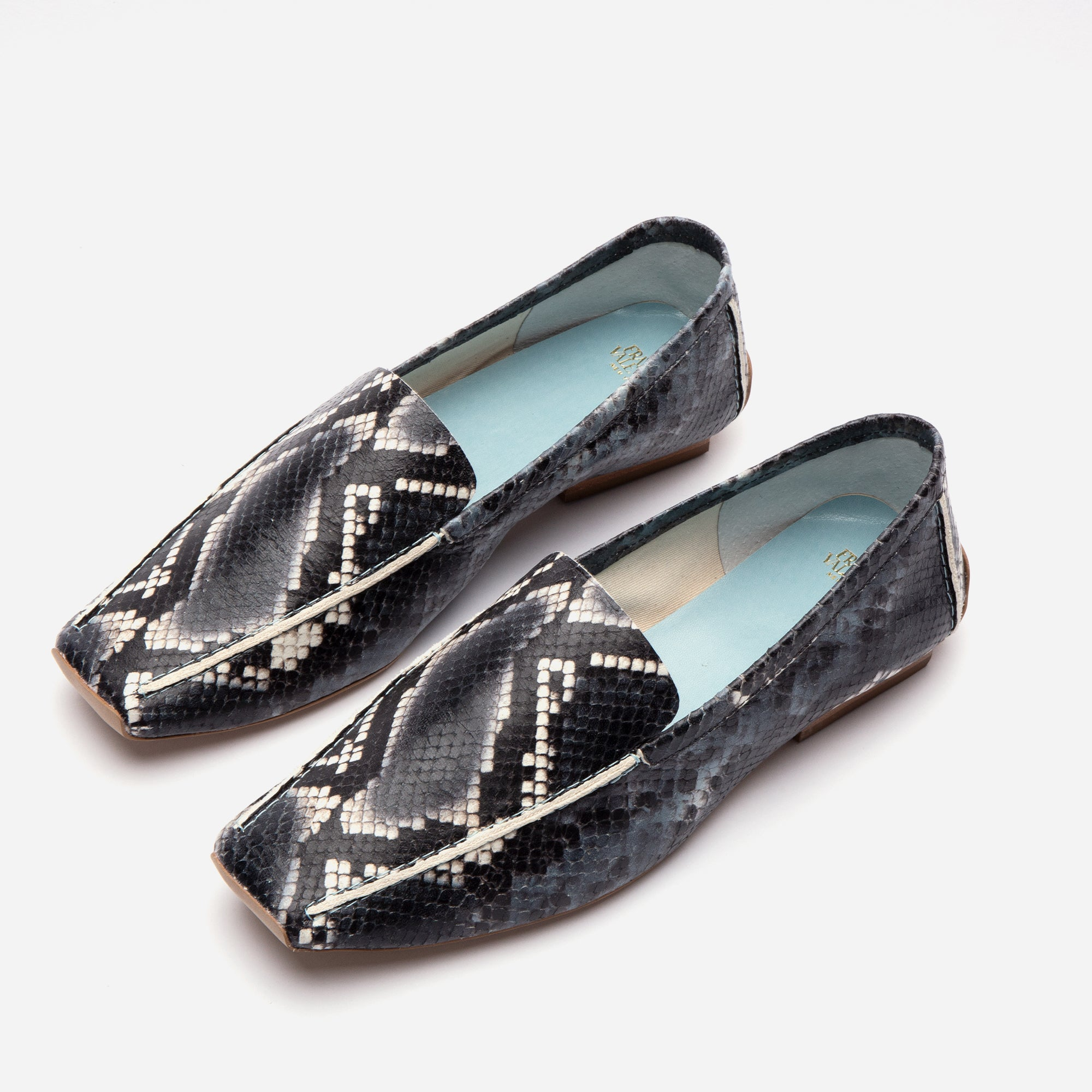 Elyce Loafers Printed Snake Navy